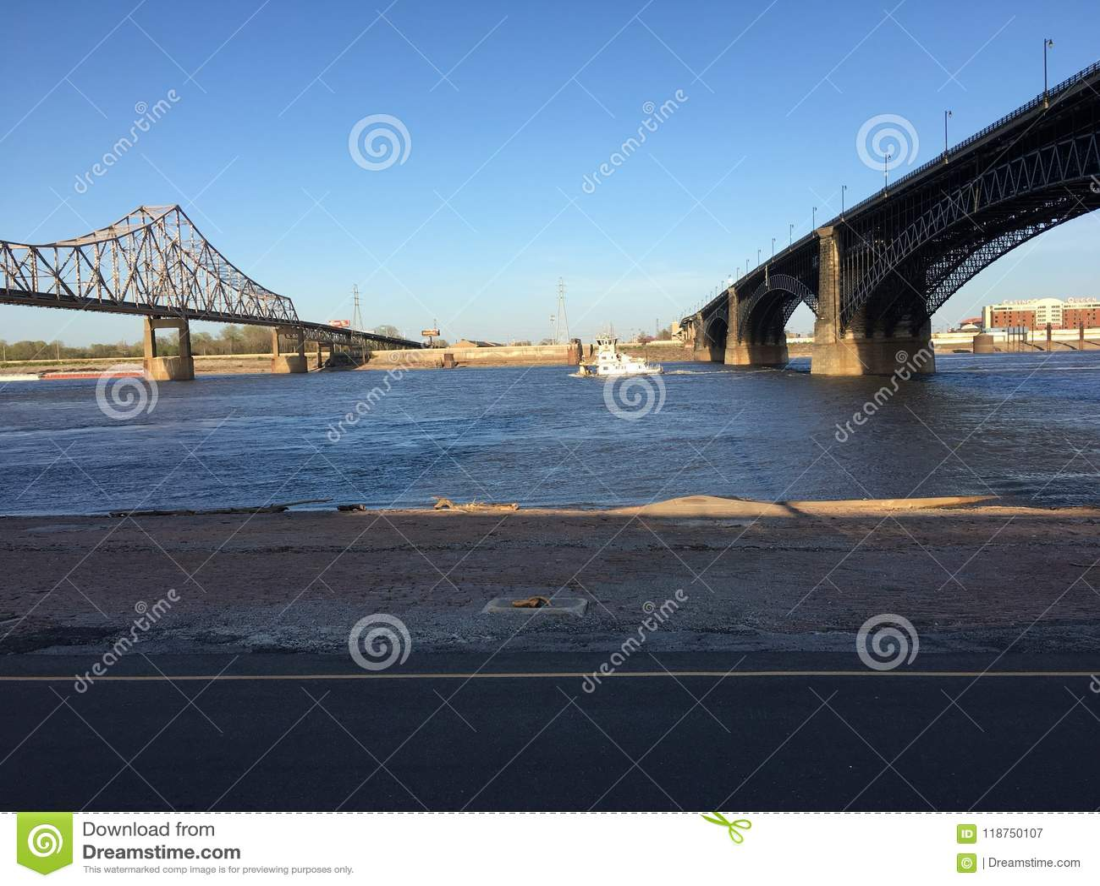 Río Misisipi de St Louis Missouri