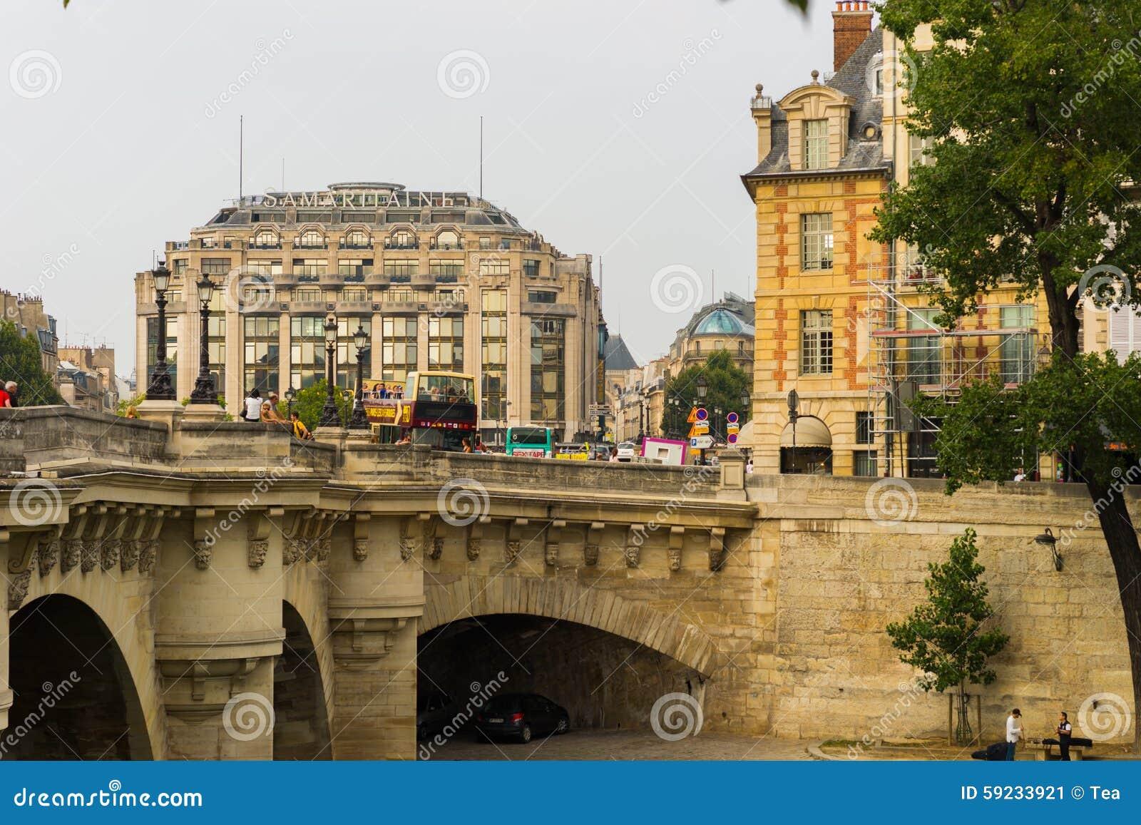 Download Río Sena por la tarde foto editorial. Imagen de francia - 59233921