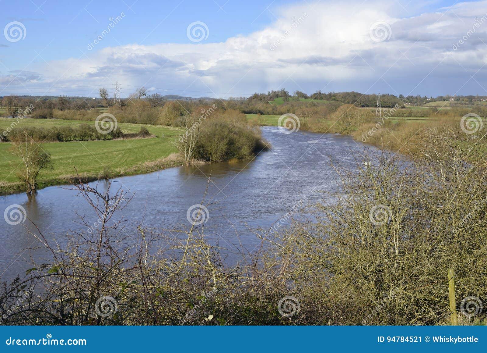 Río Severn en Wainlode