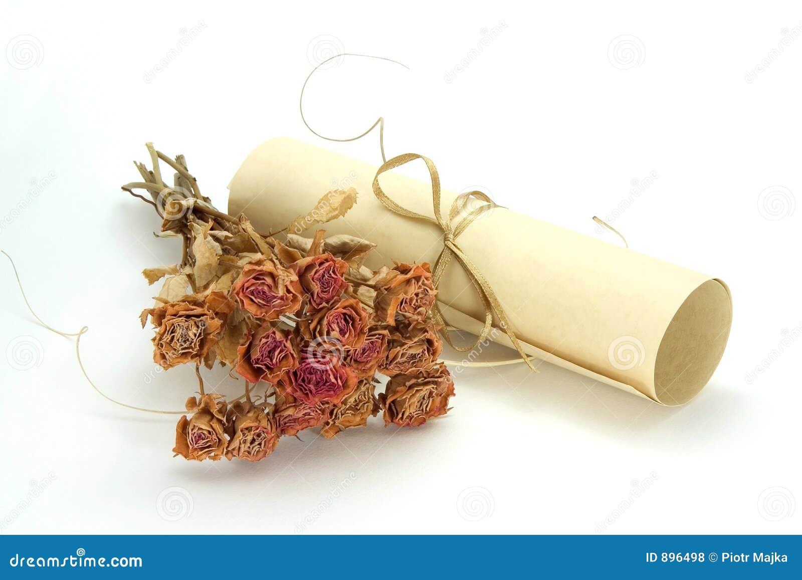 Różę suszone zwoju