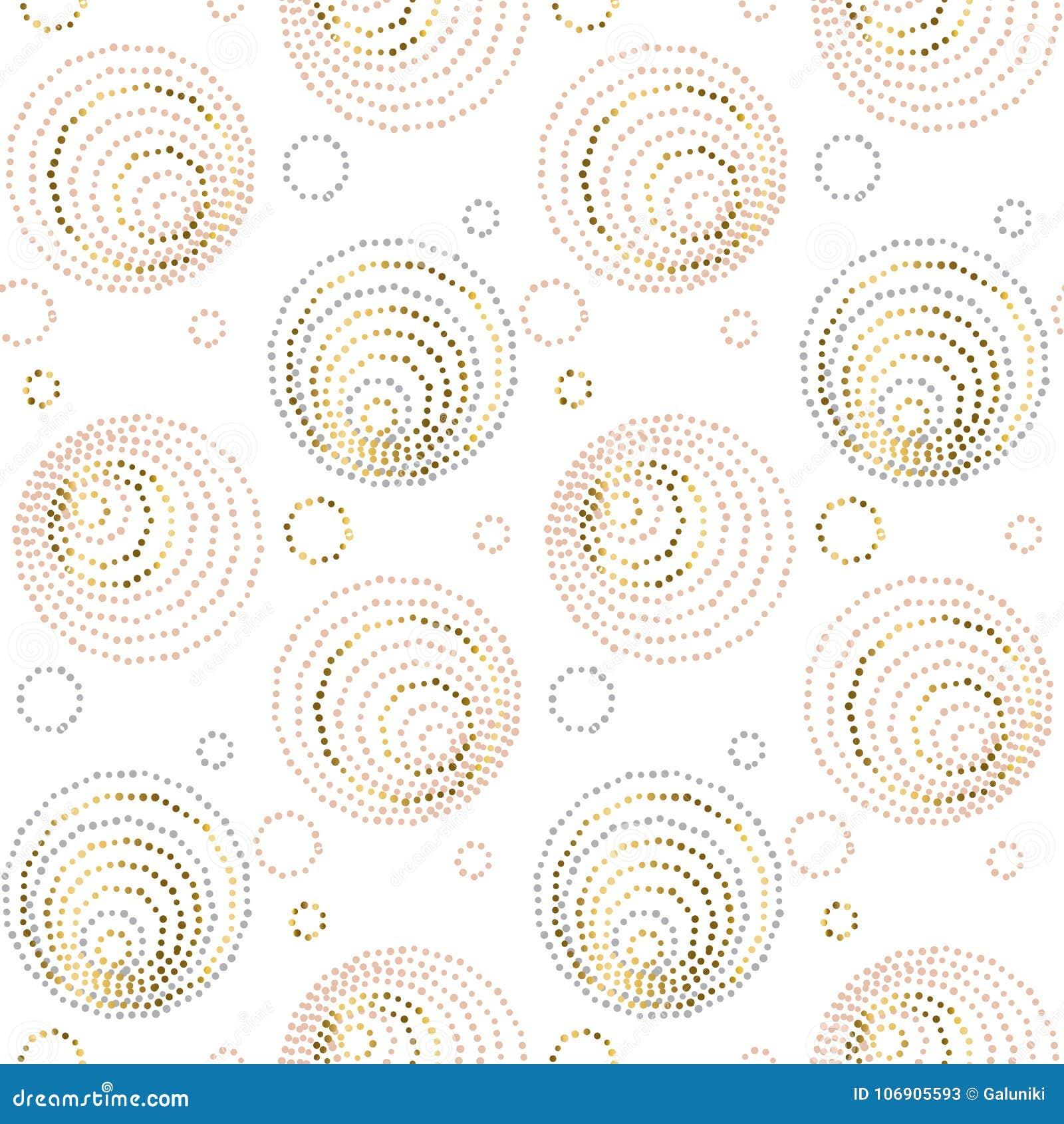 Różanego złocistego abstrakcjonistycznego geometria luksusu stylu bezszwowy wzór elegancka modna wektorowa ilustracja