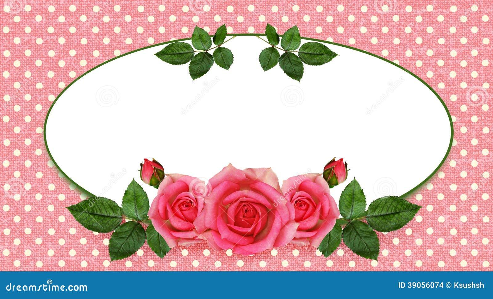 Różany kwiatu przygotowania, rama i