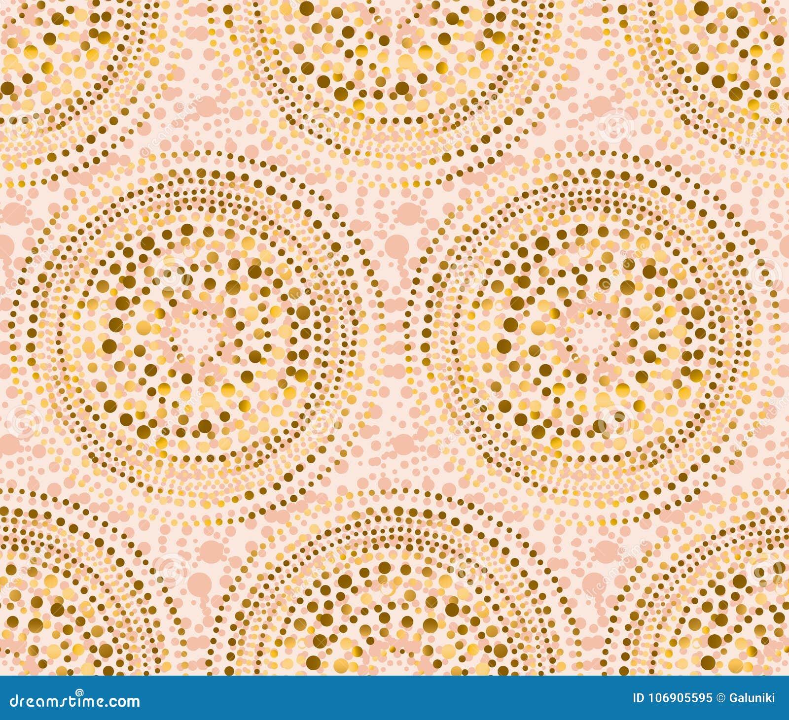 Różany złocisty abstrakcjonistyczny geometria luksusu styl