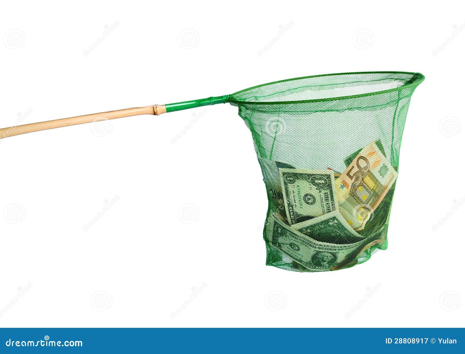 Różne waluty łapać w sieci rybackiej