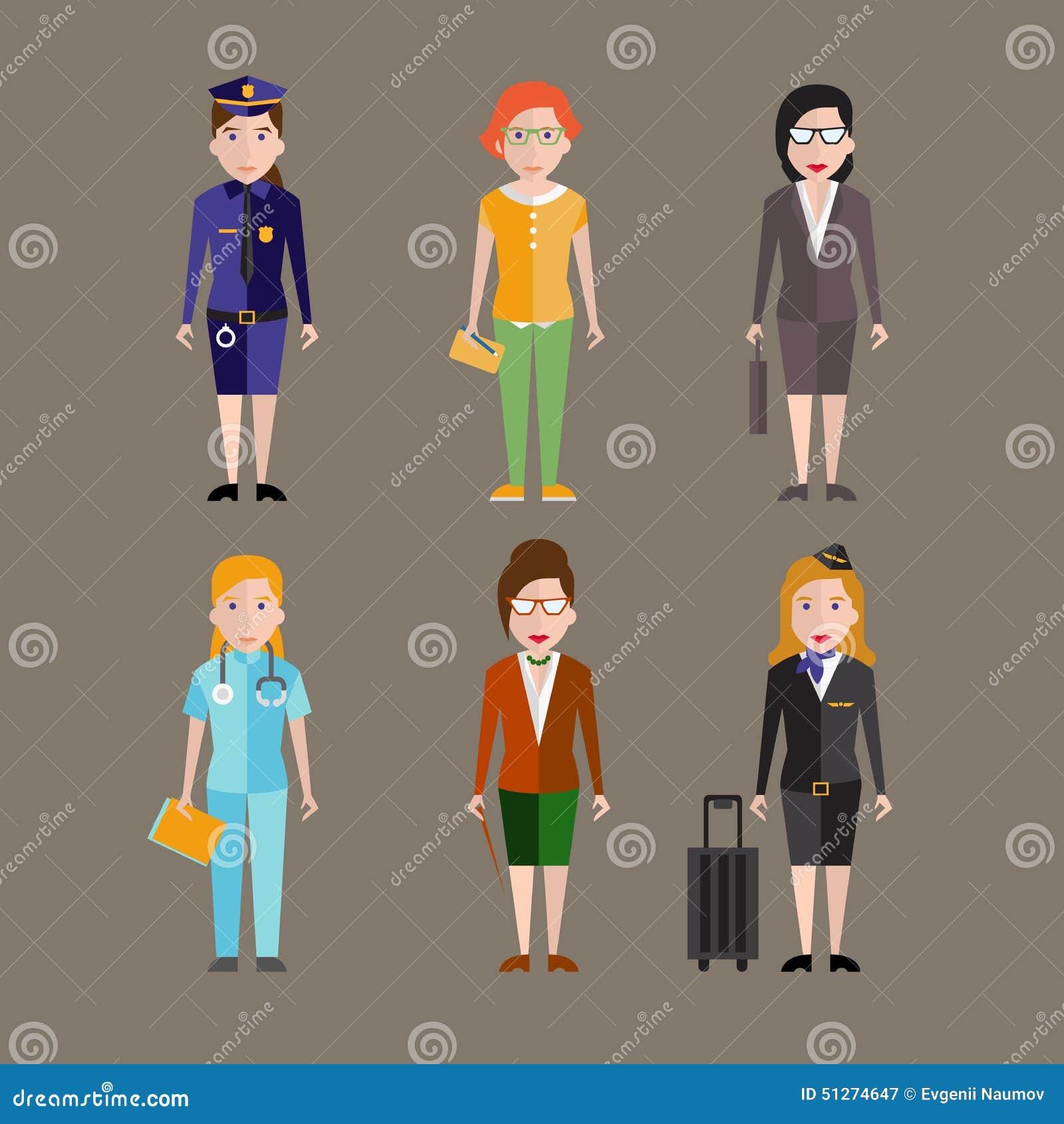 Różni ludzie zawodów charakterów wektorowych
