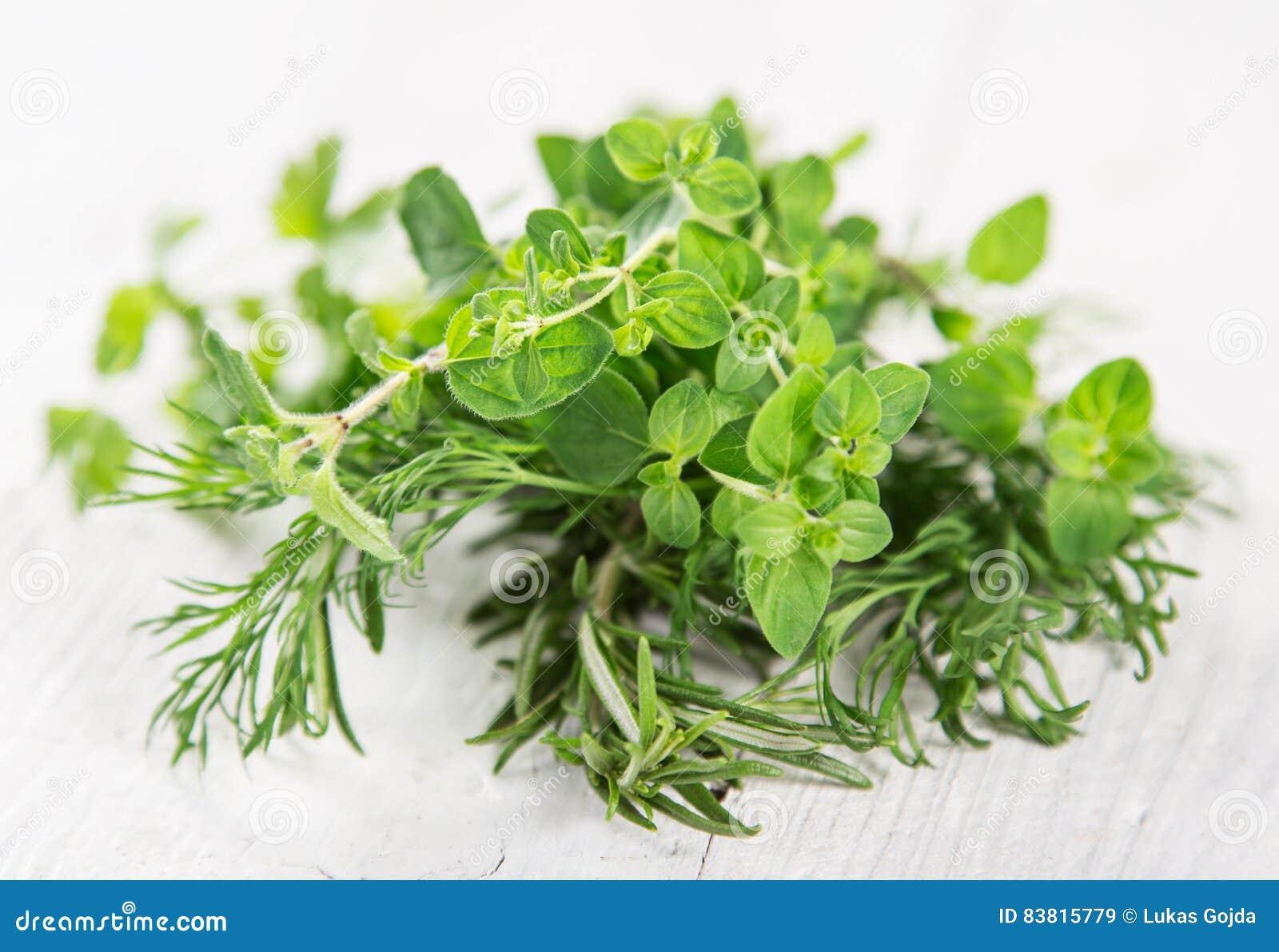 Różnorodni świezi ziele jakby