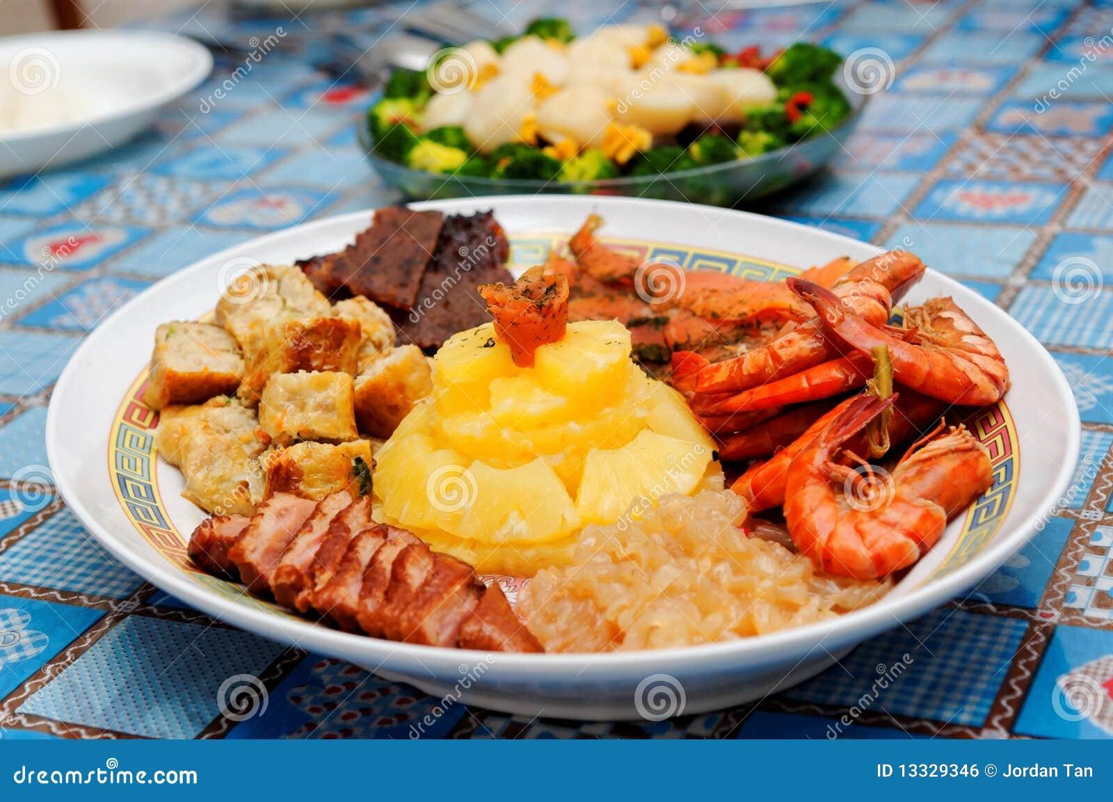 Różnorodni naczynie chińscy składniki