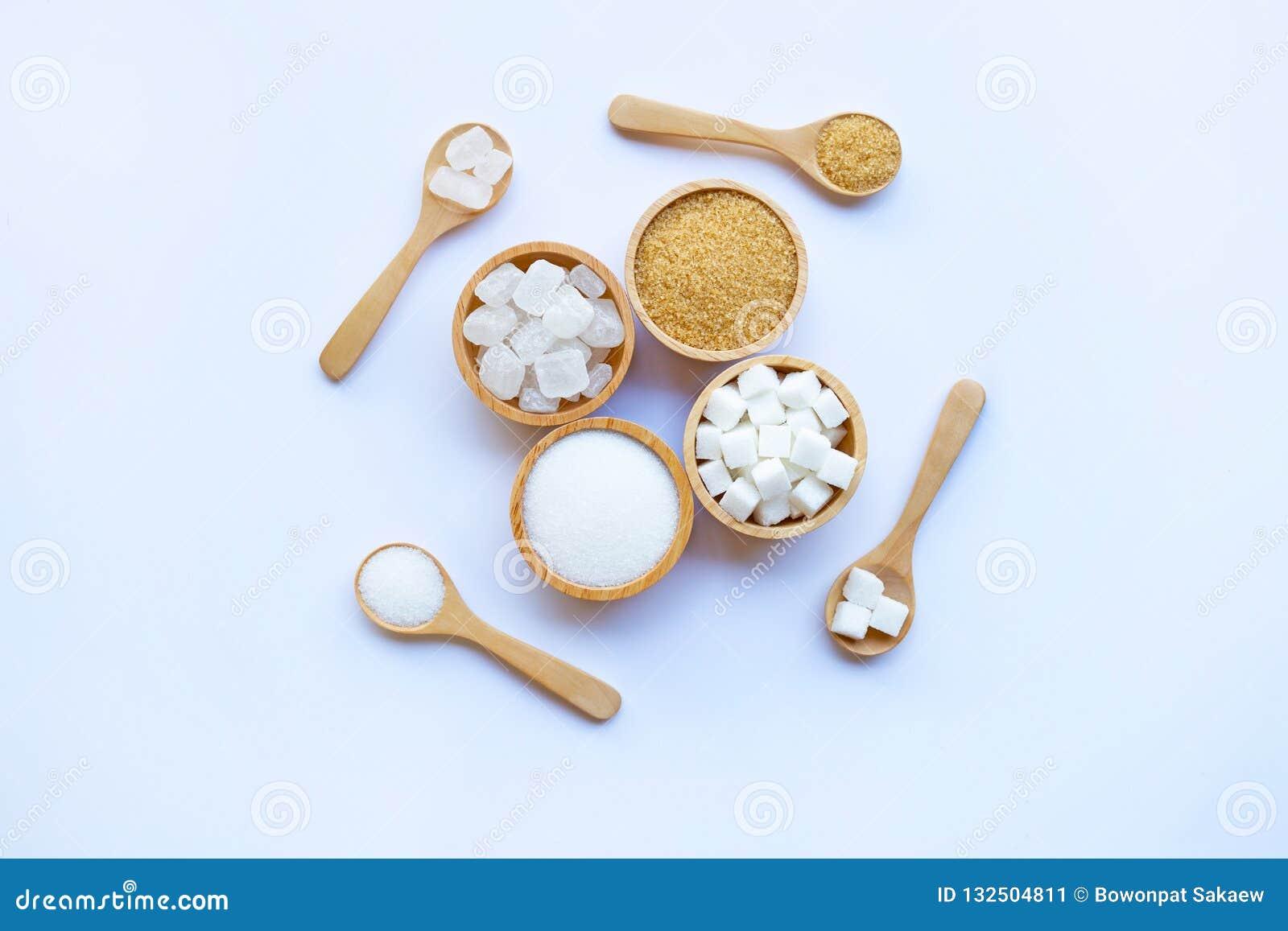 Różnorodni typ cukier