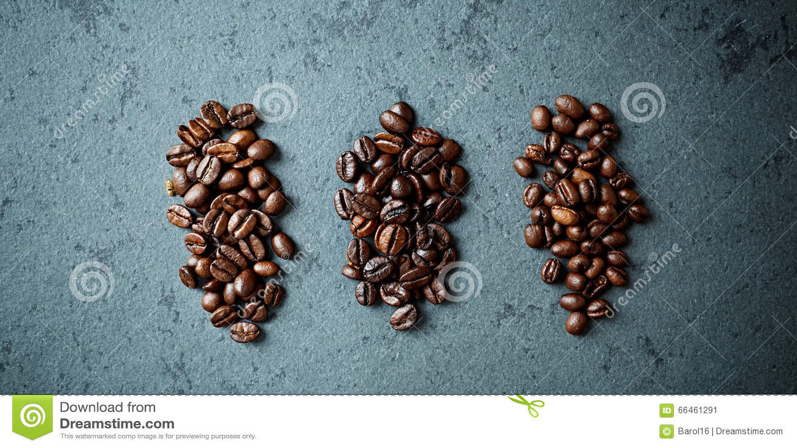 Różnorodni typ kawowe fasole