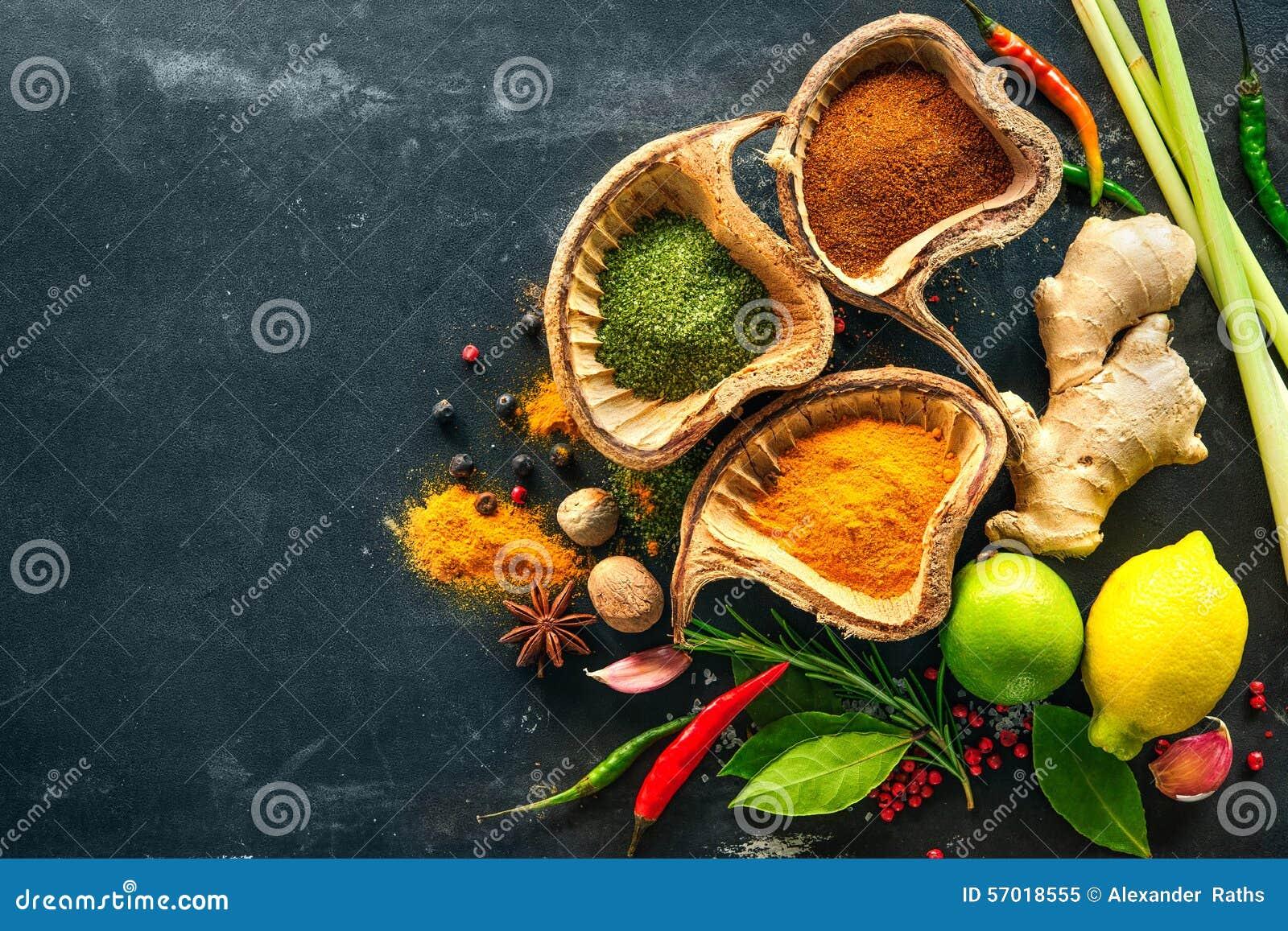 Różnorodni ziele i pikantność
