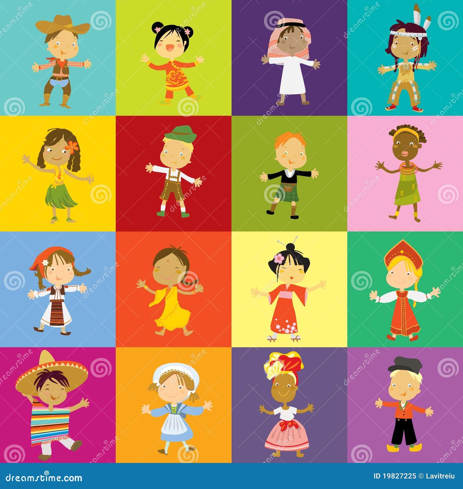 Różnorodność kulturalna dzieciaki