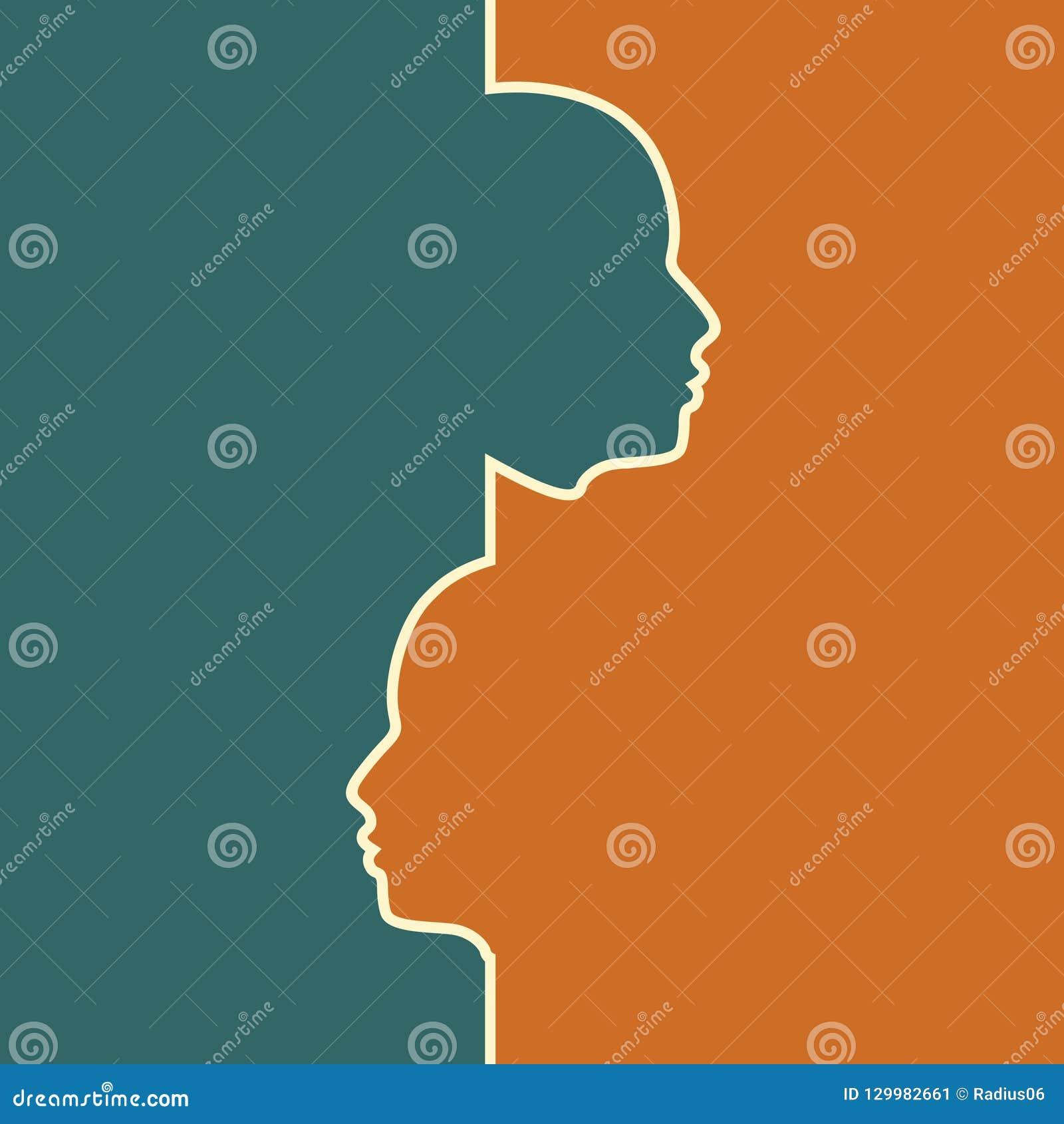 Różnorodność między istoty ludzkiej metaforą