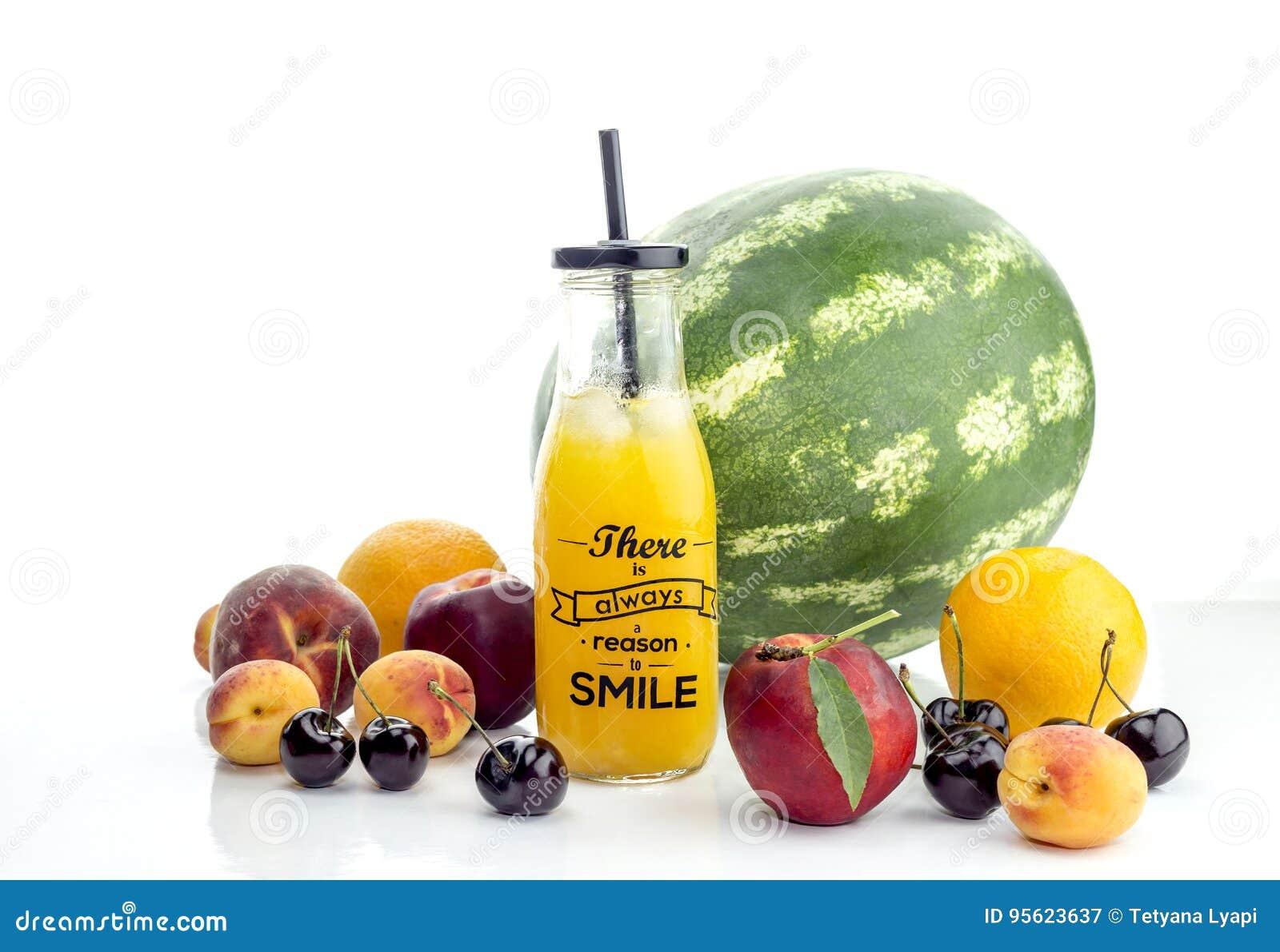 Różnorodność sok i owoc