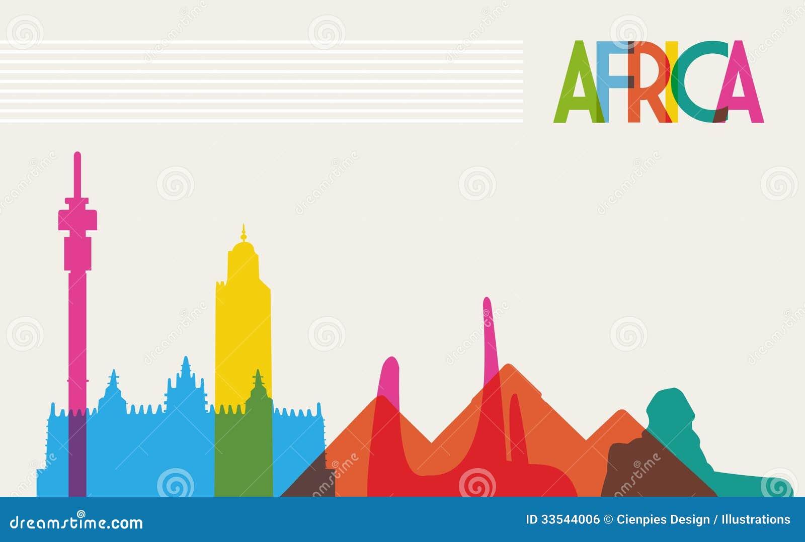Różnorodność zabytki Afryka, sławny punktu zwrotnego col