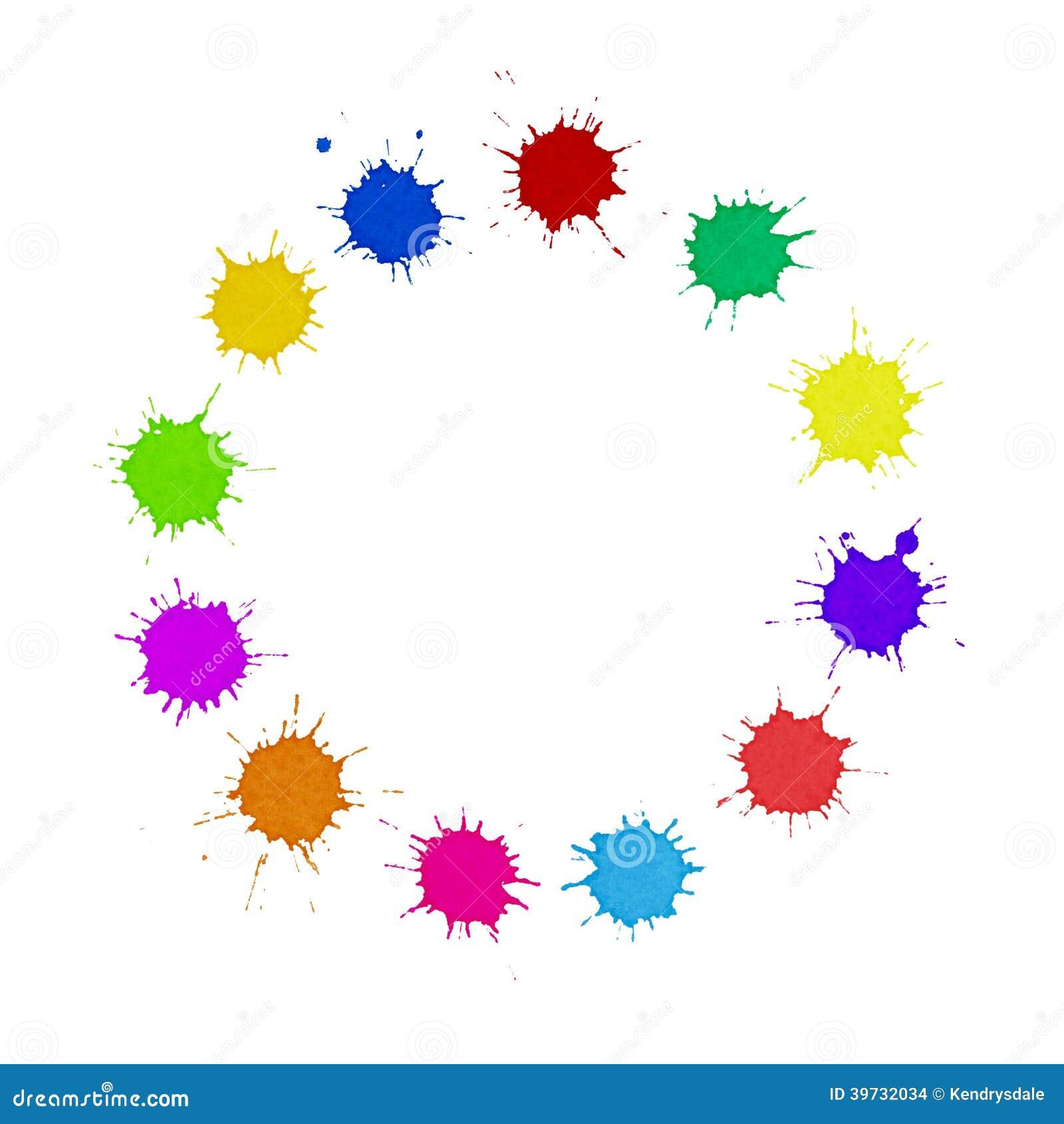 Różnorodności pojęcie - barwiący farba punktów okrąg