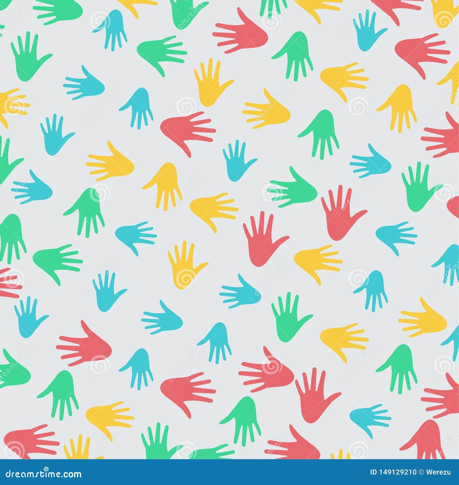 Różnorodności ręki wzoru wektoru ilustracja