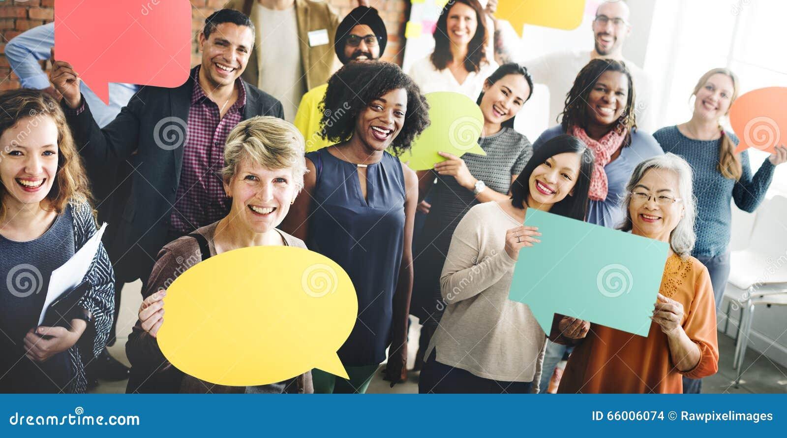 Różnorodności społeczności grupy ludzi Drużynowy pojęcie