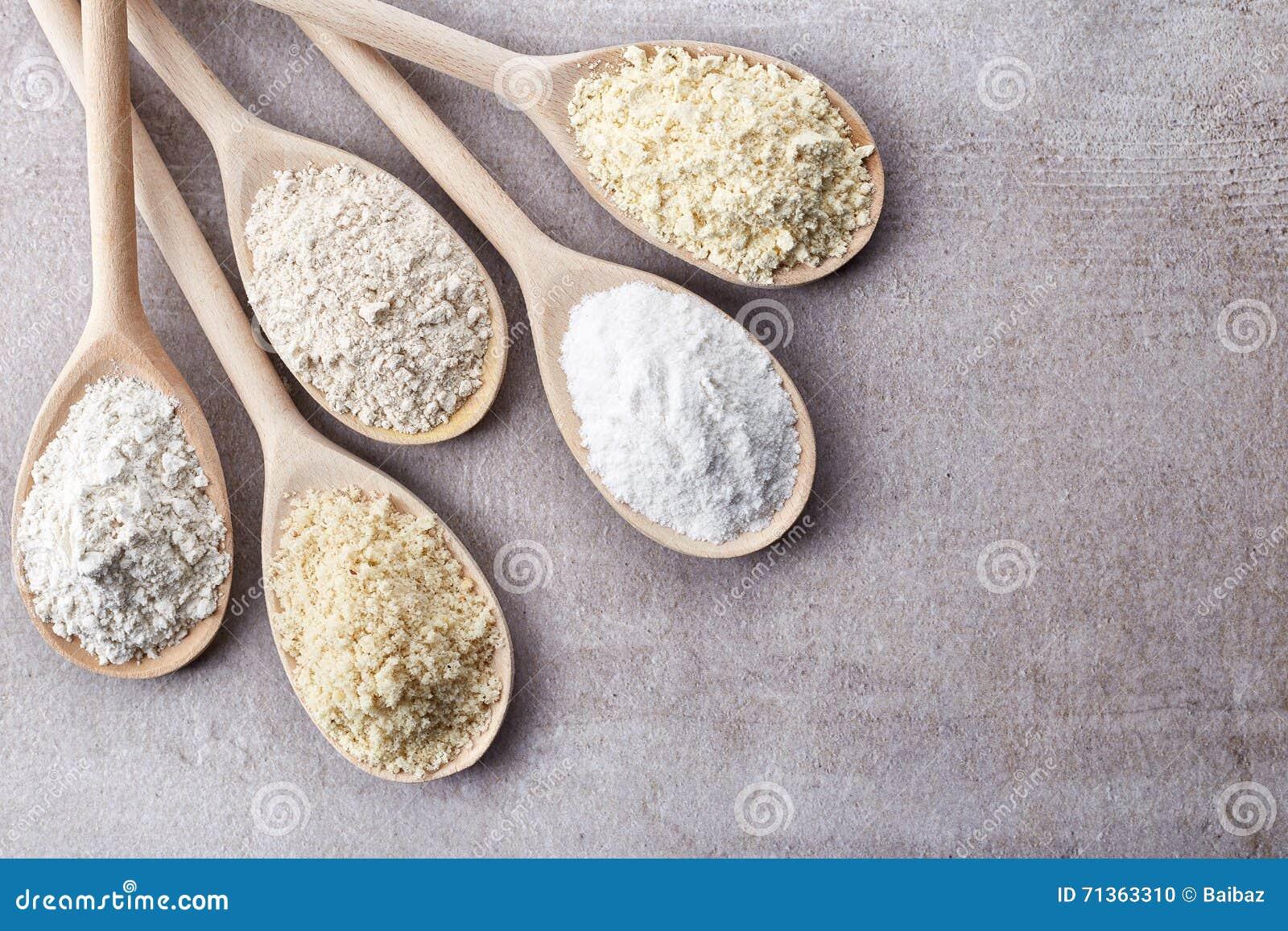 Różnorodny gluten uwalnia mąkę