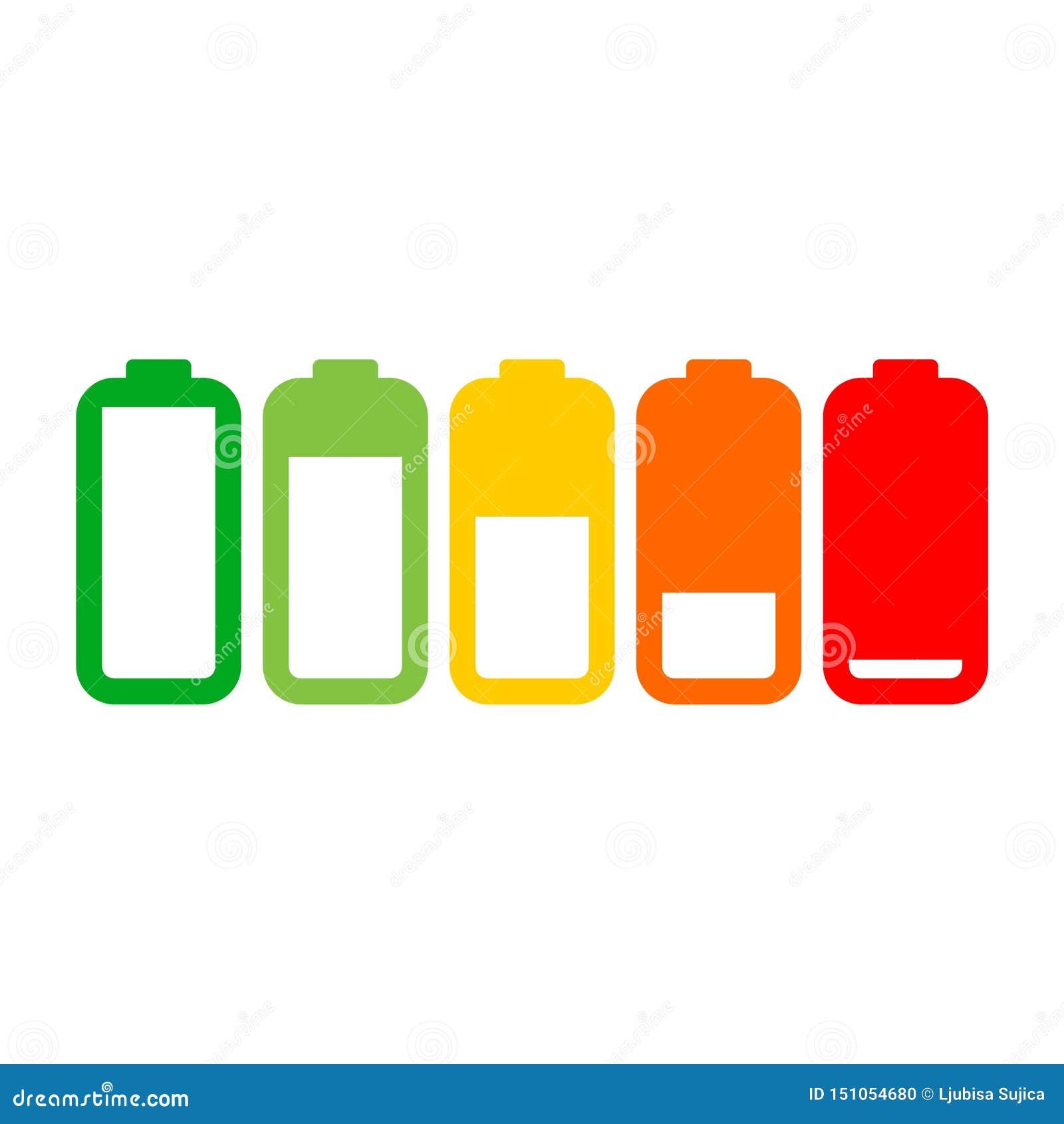 Różny ładuje status baterii ładunku znak, ikona, logo