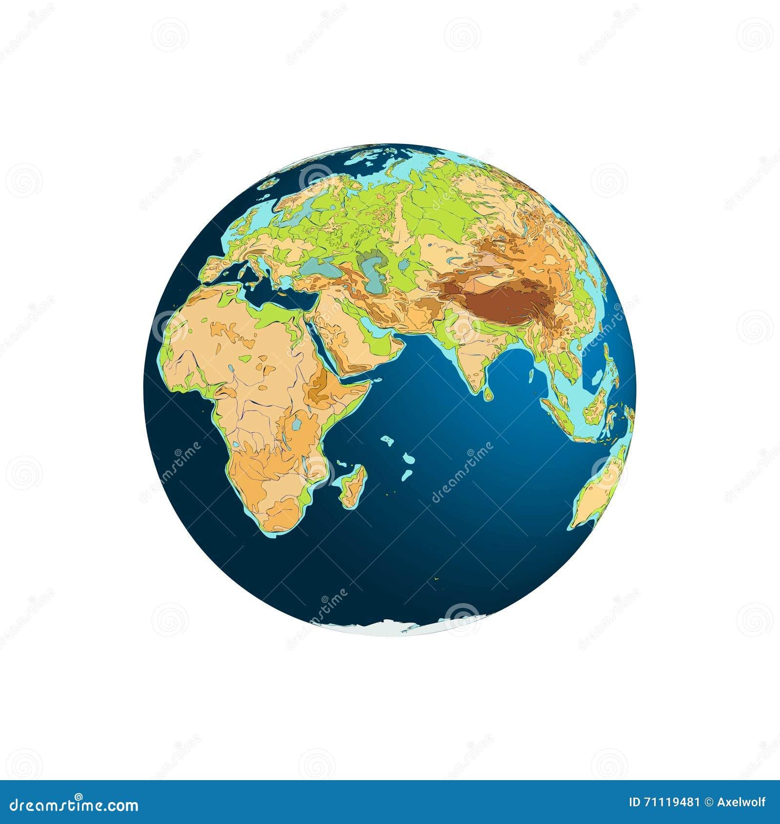 Różny kuli ziemskiej ilustraci wektor przeglądać świat planety tła naziemnych pełne gwiazd africa Eurasia