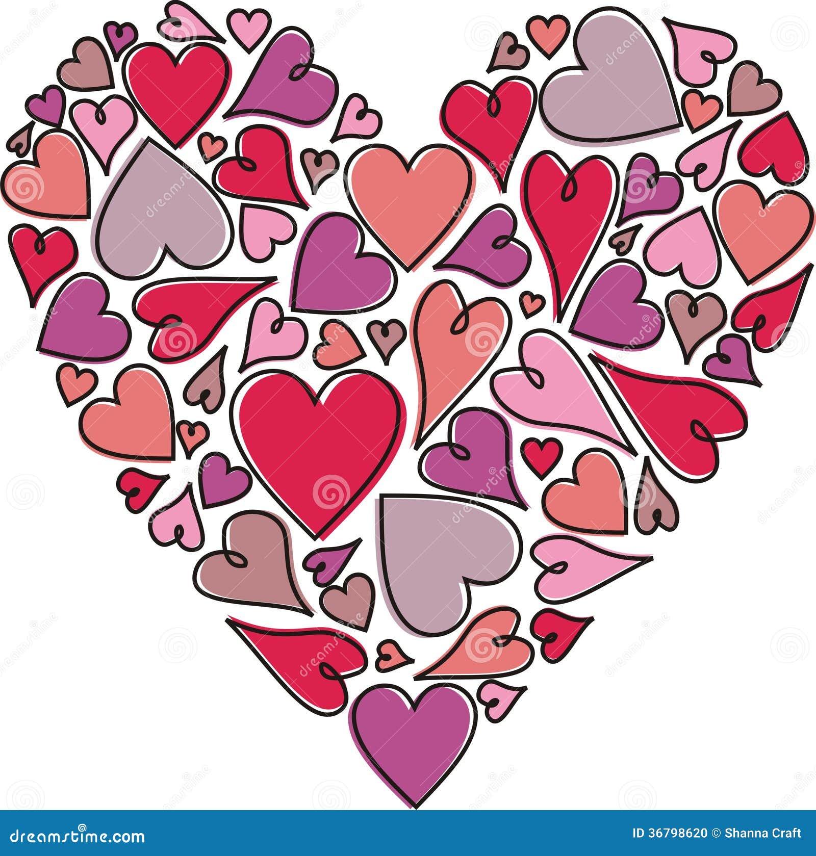 Różowa Purple Heart mozaika na Białym tle