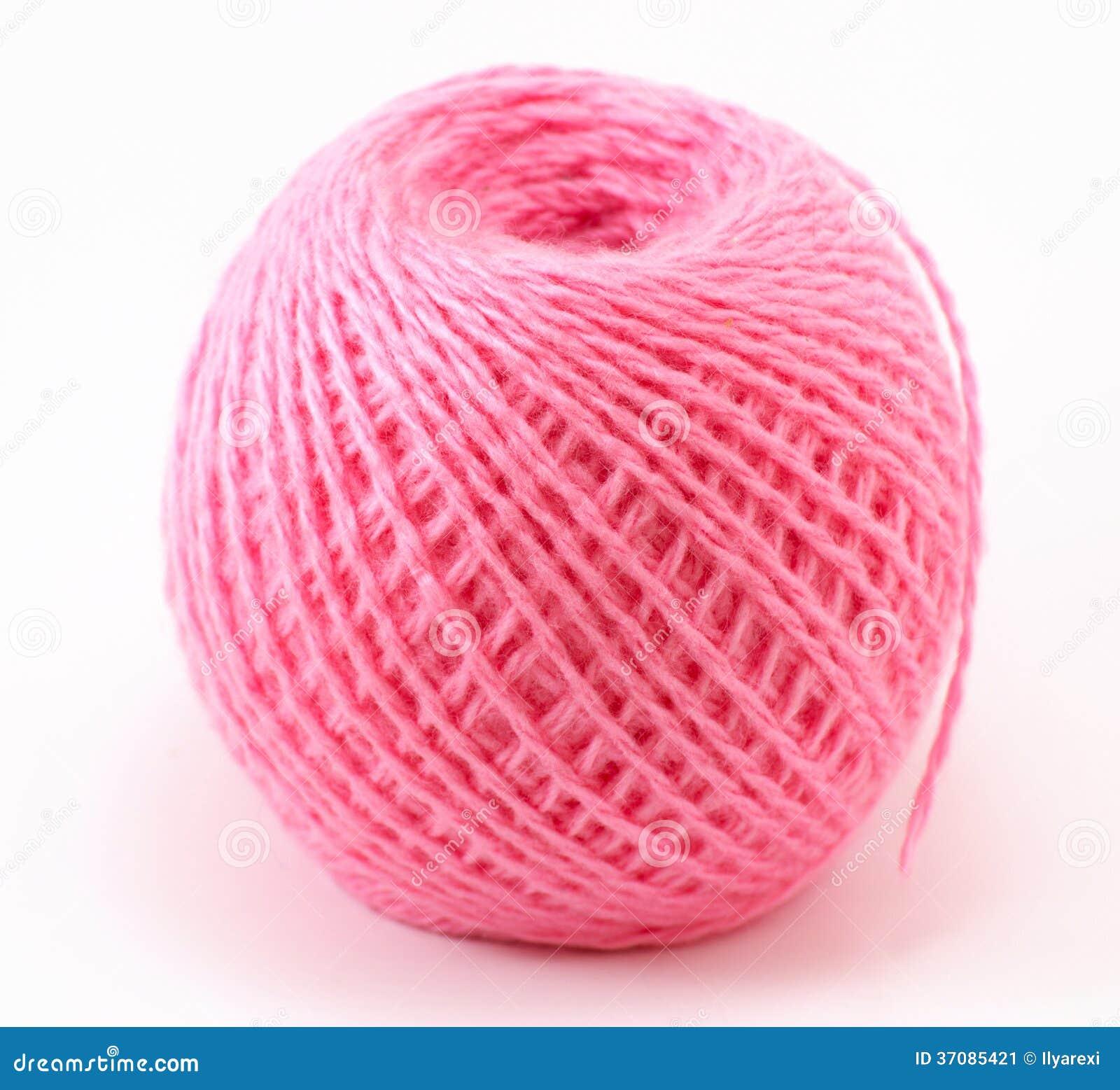 Download Różowa wełny piłka obraz stock. Obraz złożonej z sprzątanie - 37085421