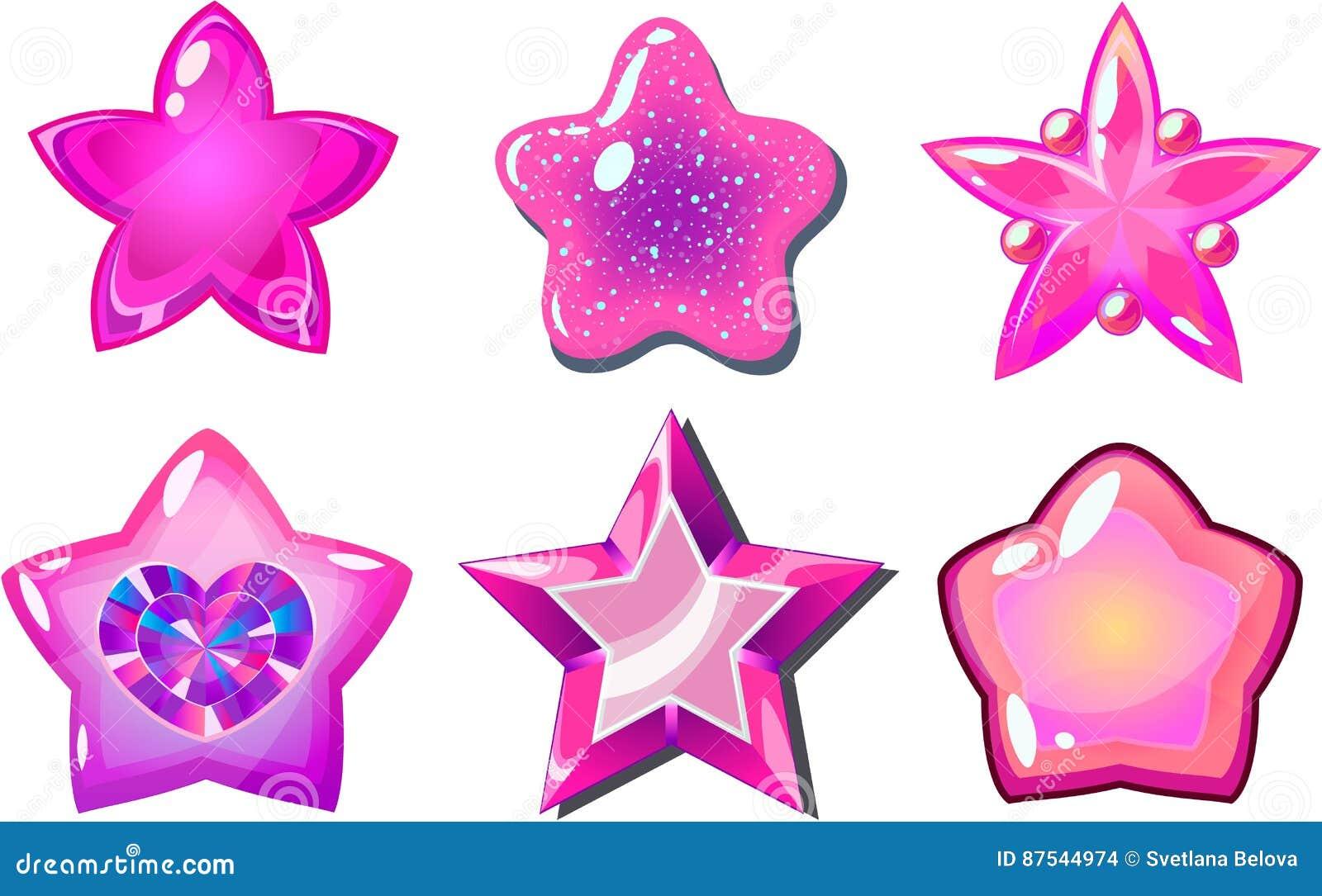 Różowe gwiazdy