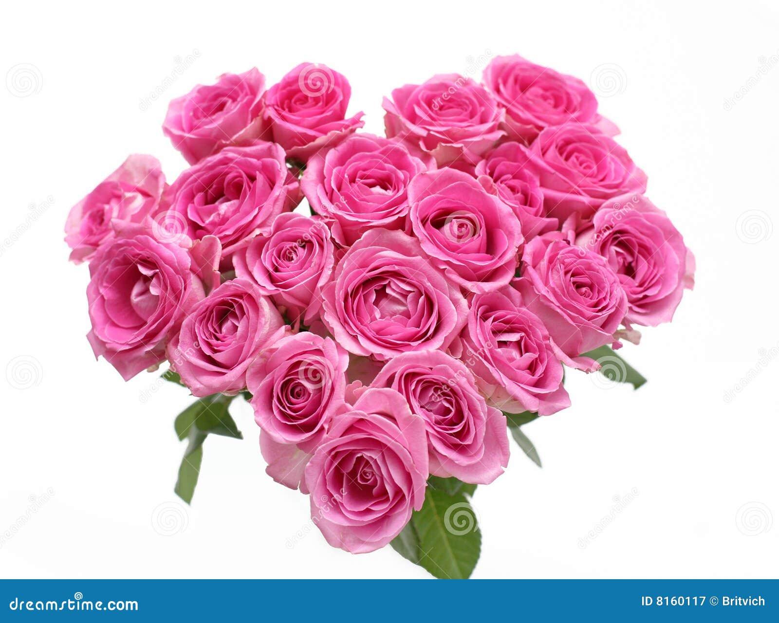 Różowe serce róże