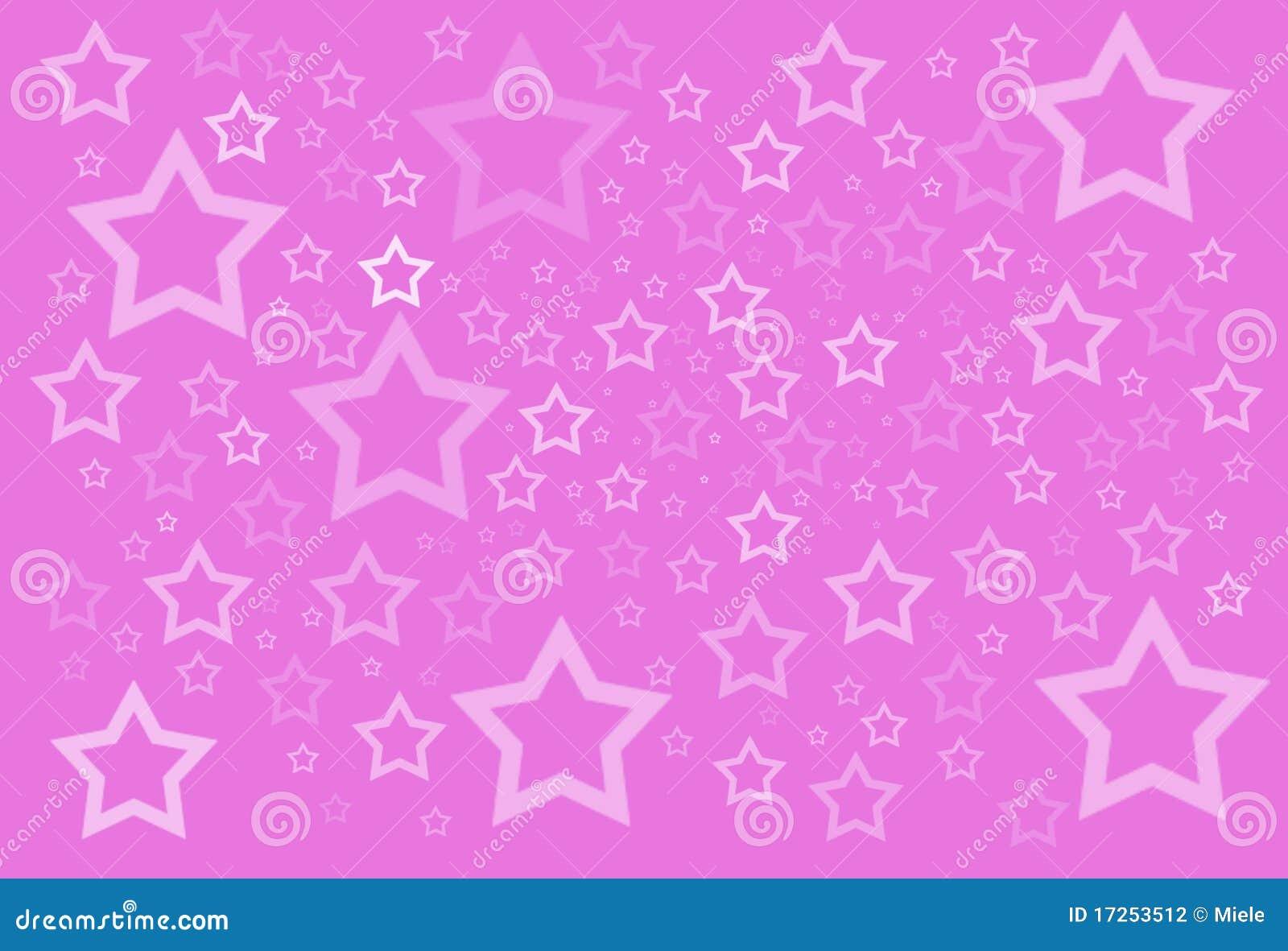 Różowe Tło Gwiazdy Ilustracji. Ilustracja Złożonej Z