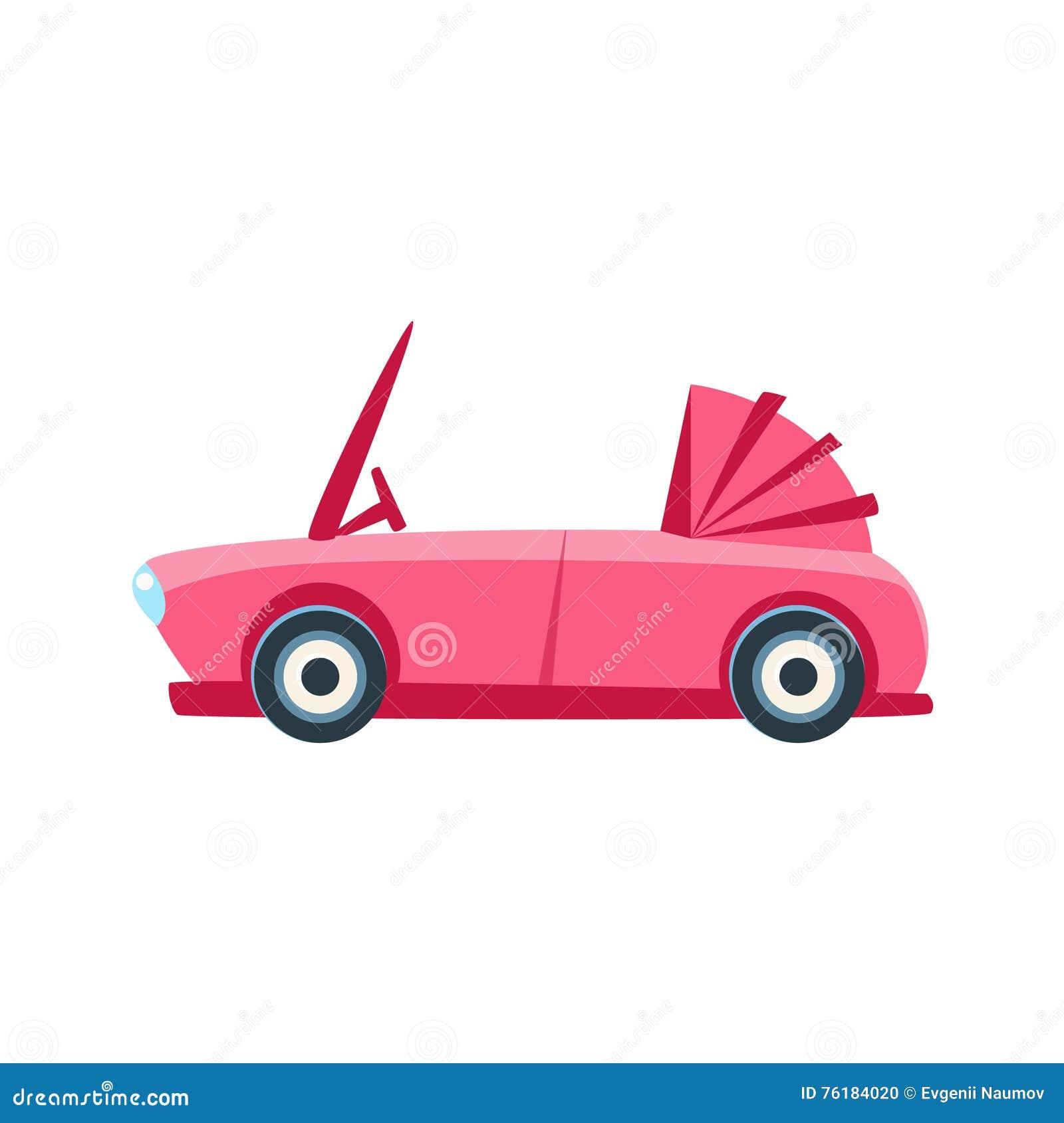 Różowej kabriolet zabawki Śliczna Samochodowa ikona