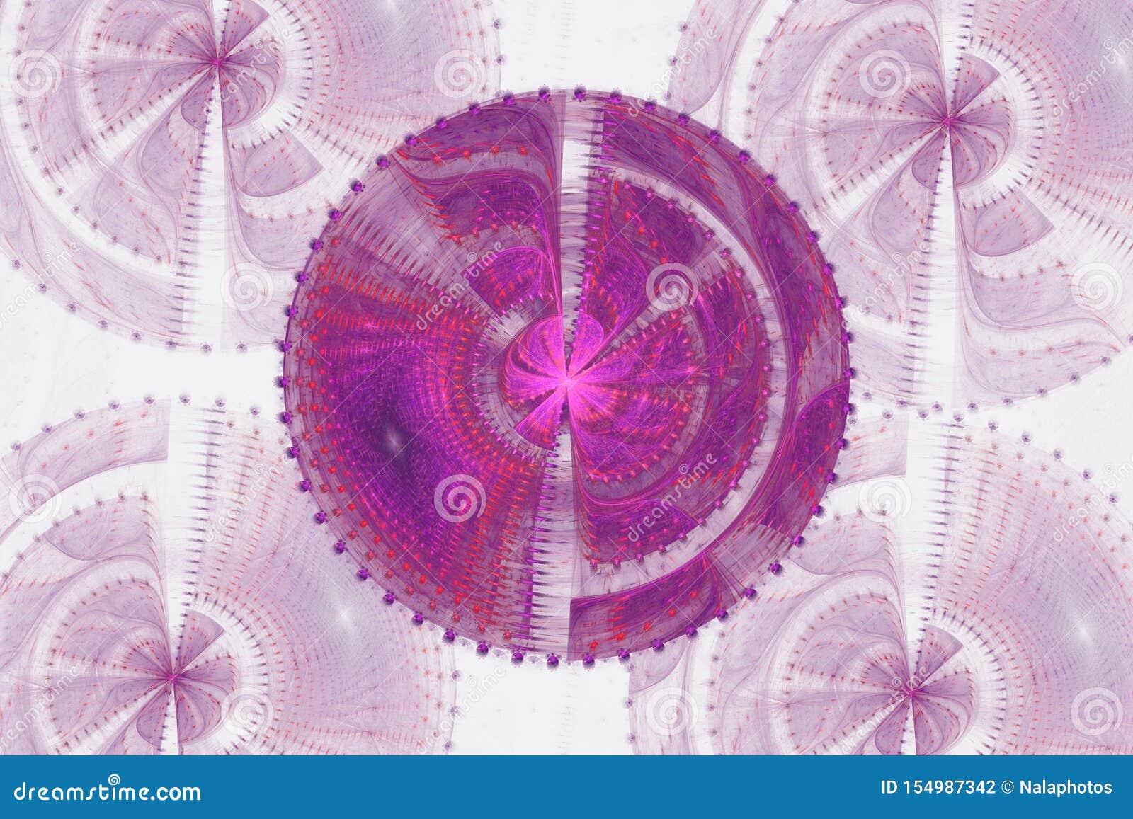 Różowej purpurowej fractal fraktal geometrycznej deseniowej tapetowej sztuki tła pokrywy ulotki artsy wzór