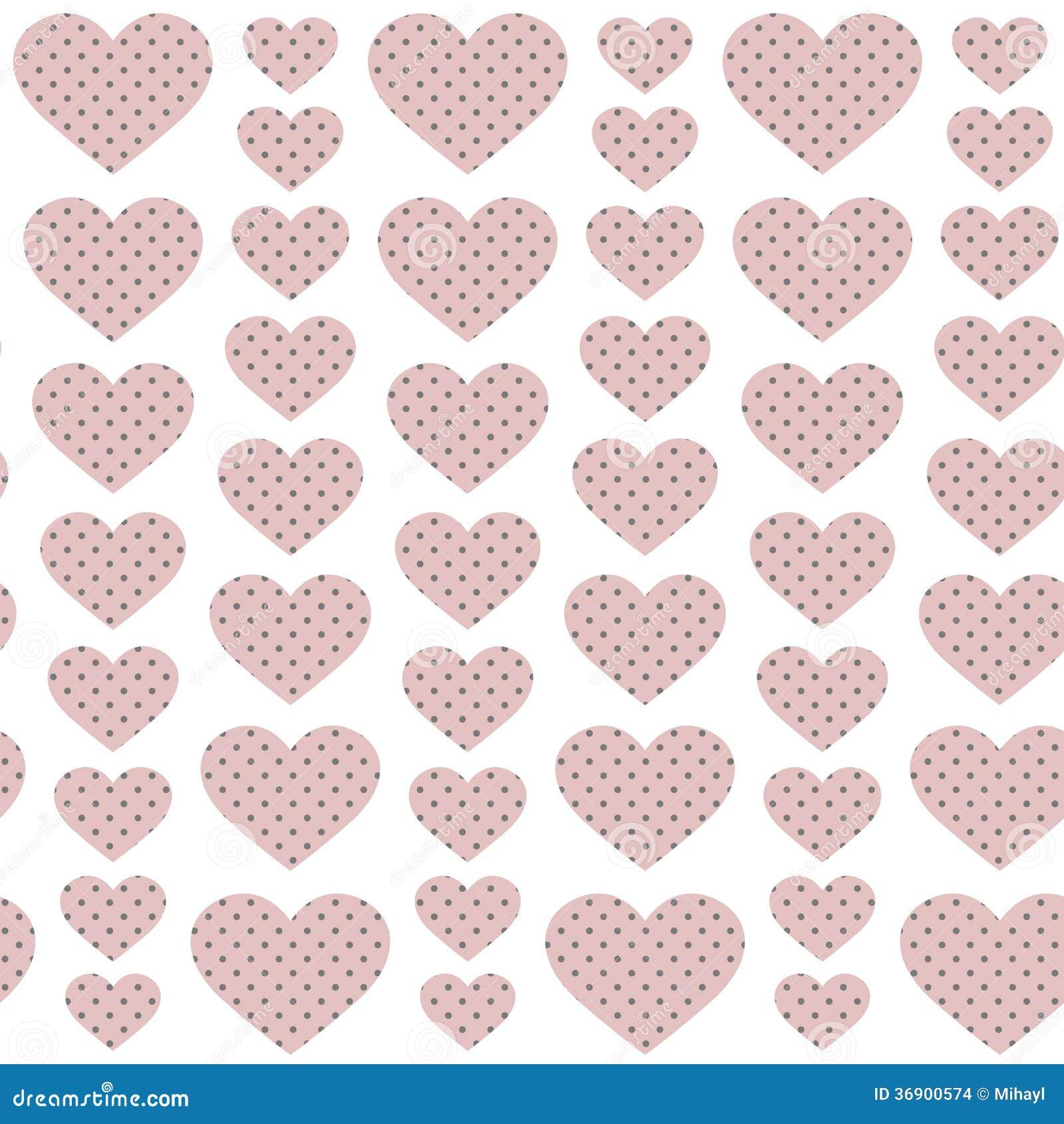 Różowi serca - bezszwowy wzór
