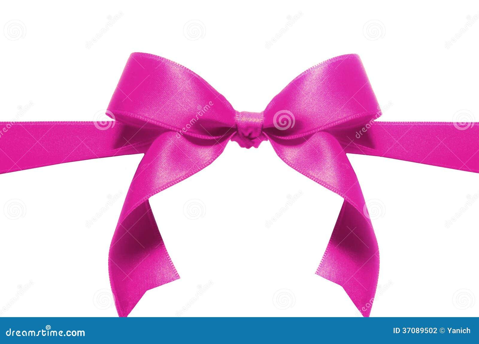 Download Różowy łęk zdjęcie stock. Obraz złożonej z purpury, łęk - 37089502