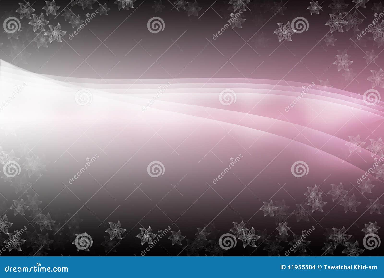 Różowy ładny abstrakcjonistyczny tło z kwiatów wzorami,