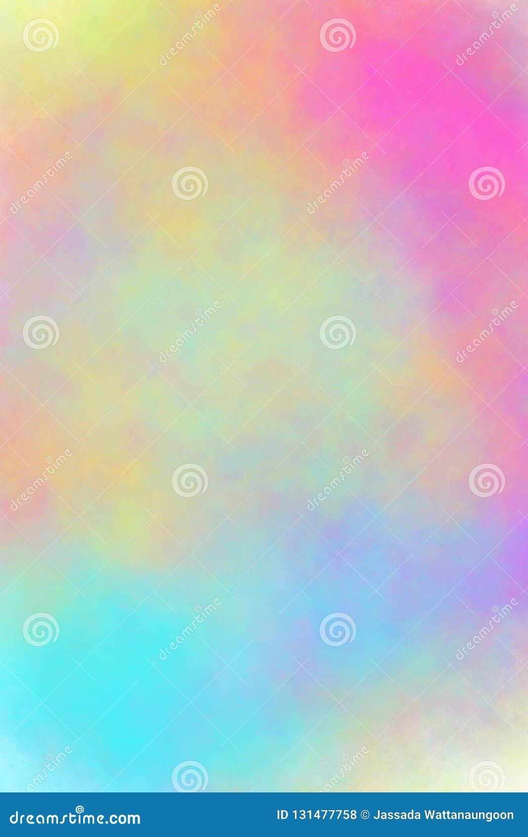 Różowy żółtej zieleni plamy błękitny tło