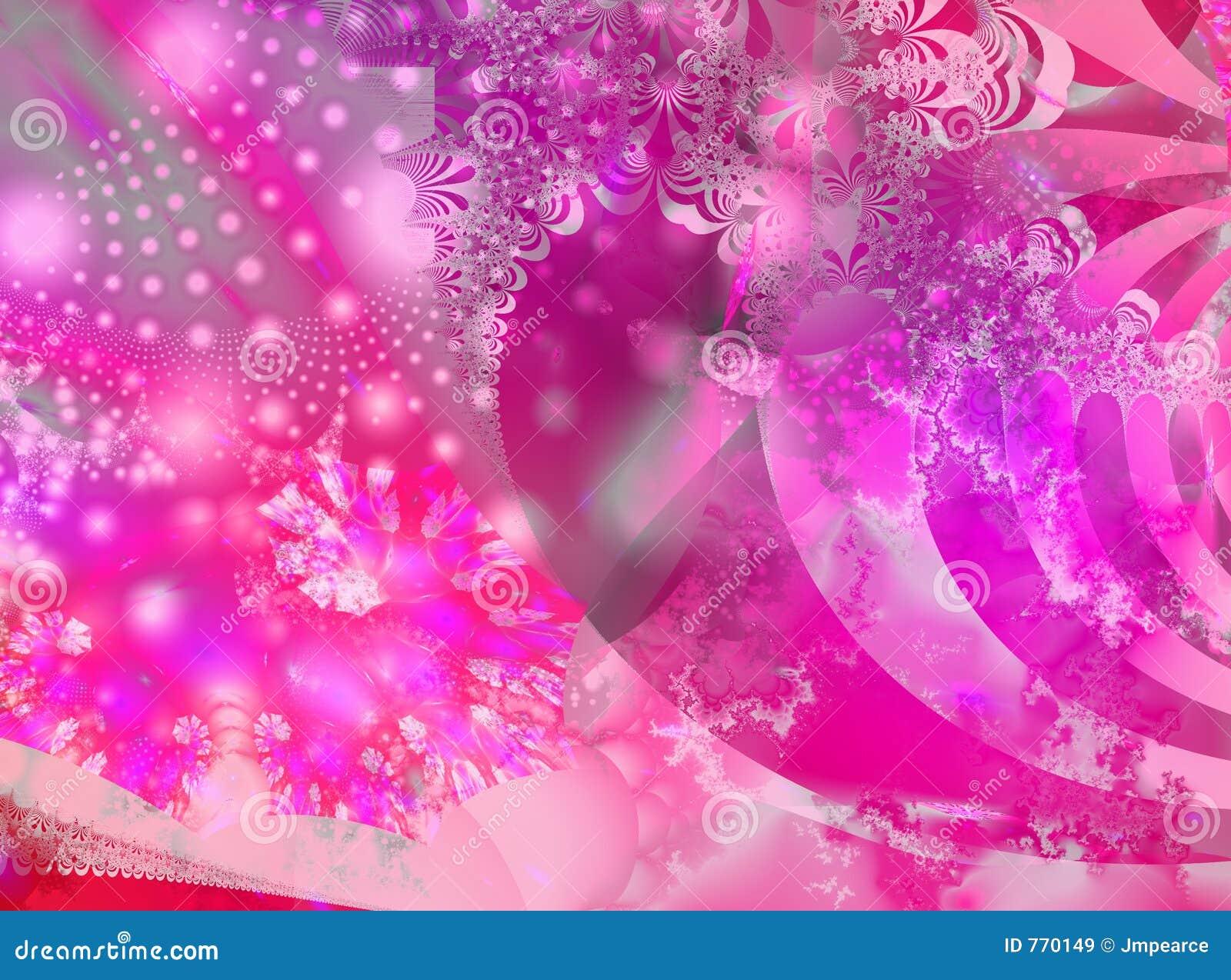 Różowy fractal żyły złota