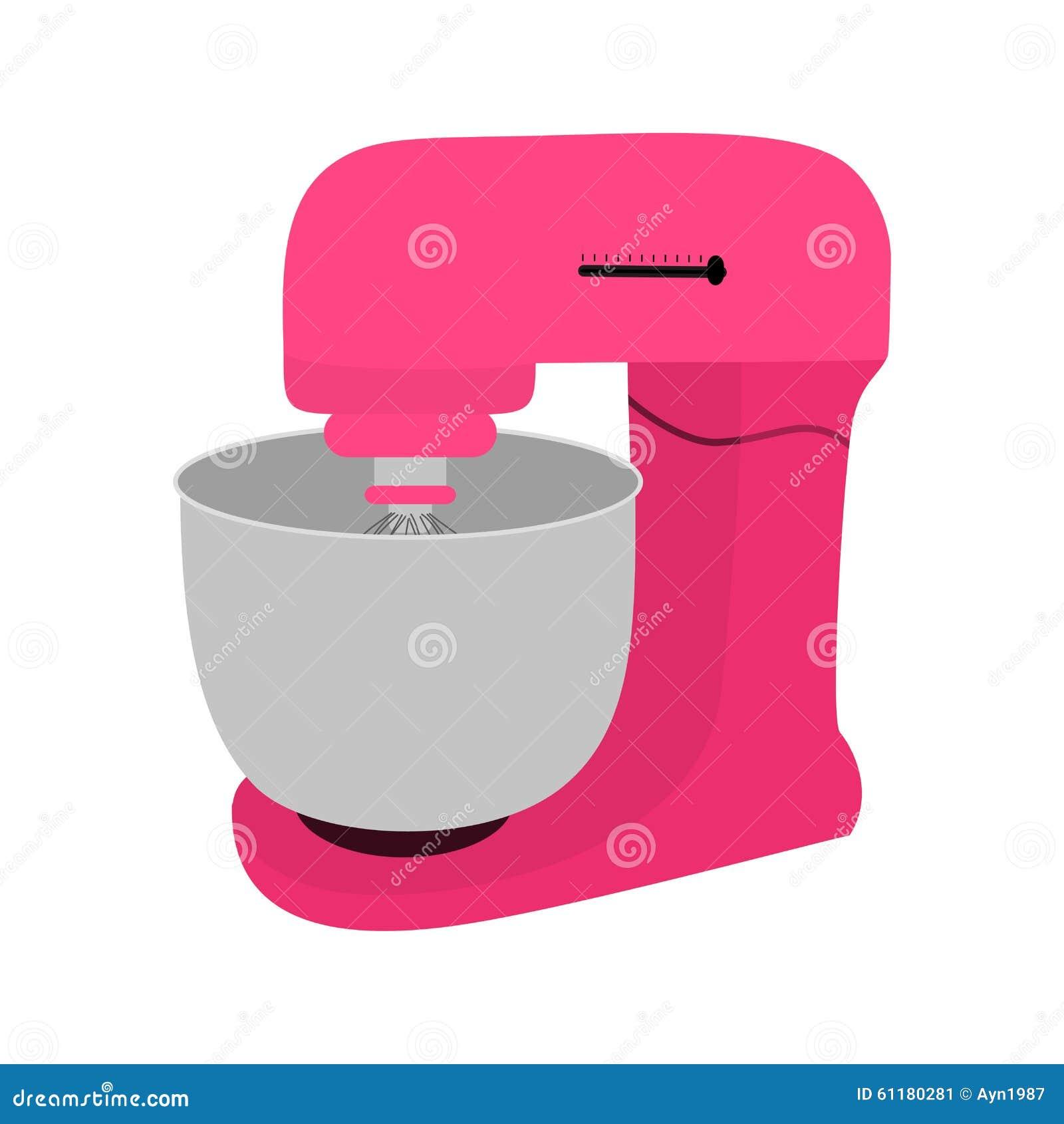 Różowy kuchenny melanżer z pucharem