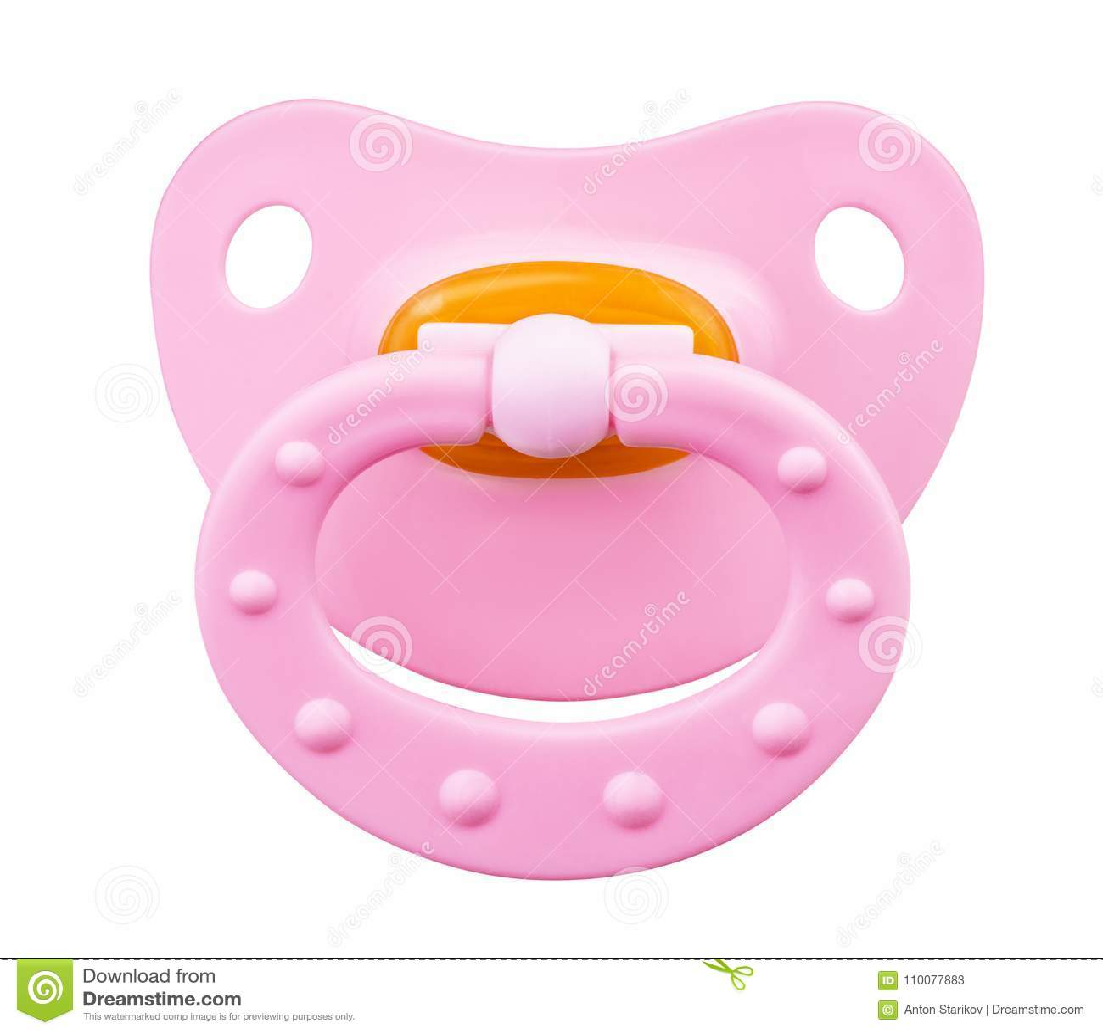 Różowy ortodontyczny pacyfikator