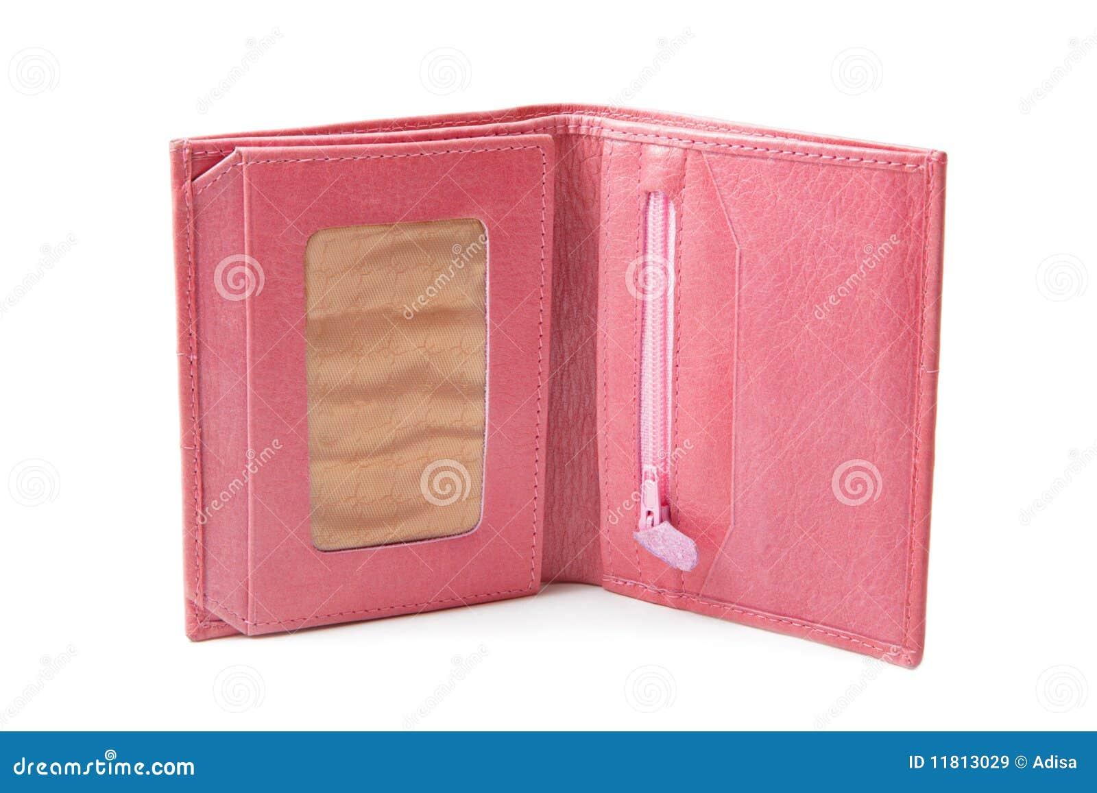 Różowy portfel