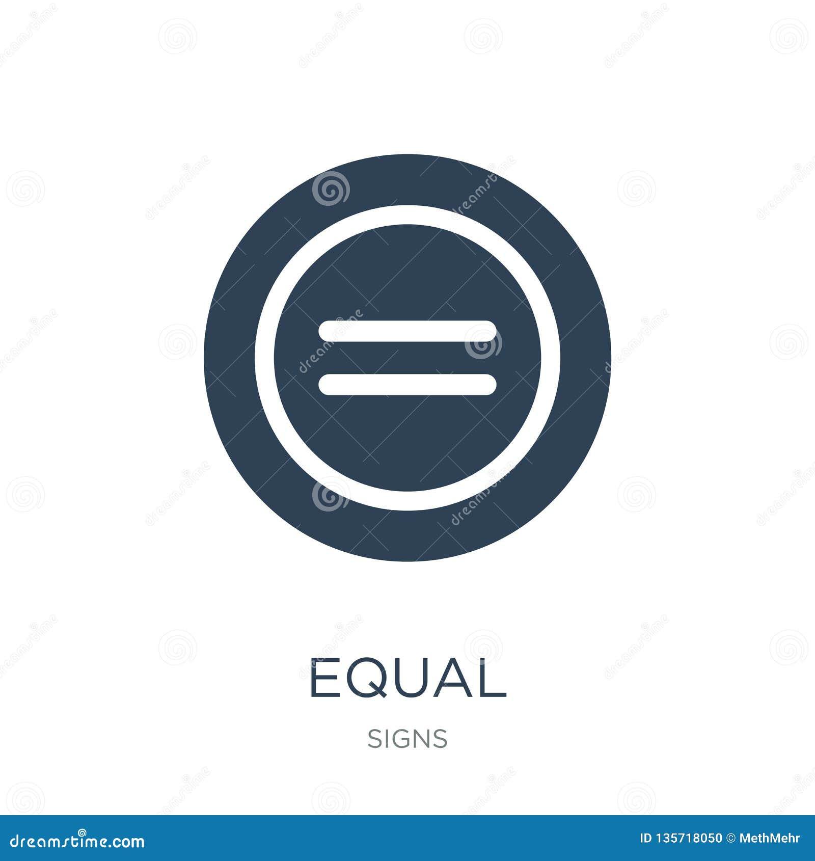 Równa ikona w modnym projekta stylu równa ikona odizolowywająca na białym tle równej wektorowej ikony prosty i nowożytny płaski s