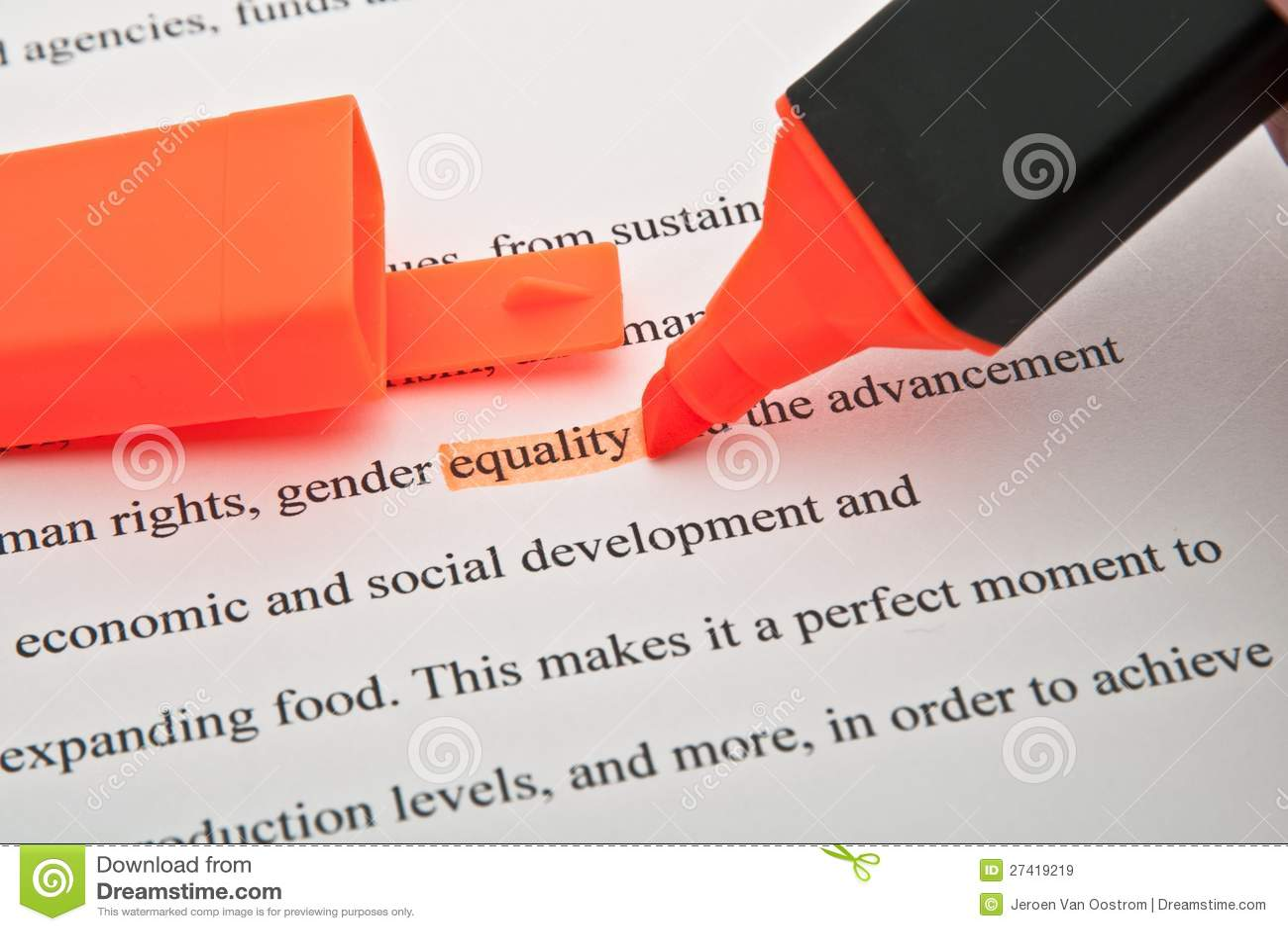 Równość podkreślająca