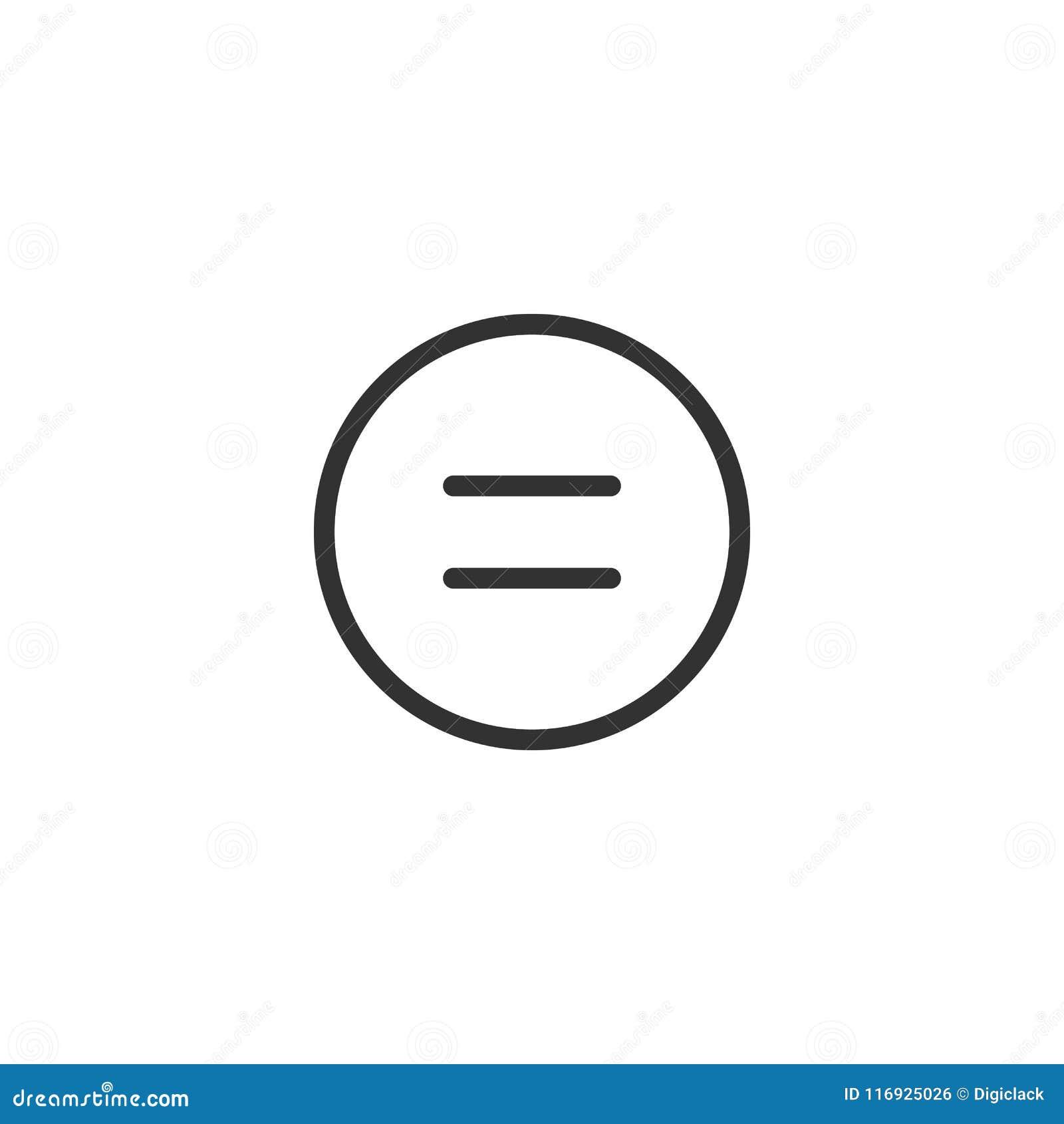 Równy Kreskowy ikona projekt