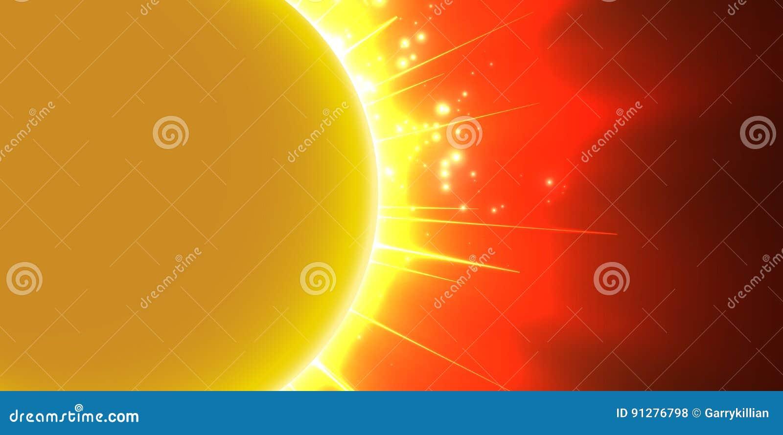 Röd bakgrund för abstrakt vektor med planeten och förmörkelse av dess stjärna