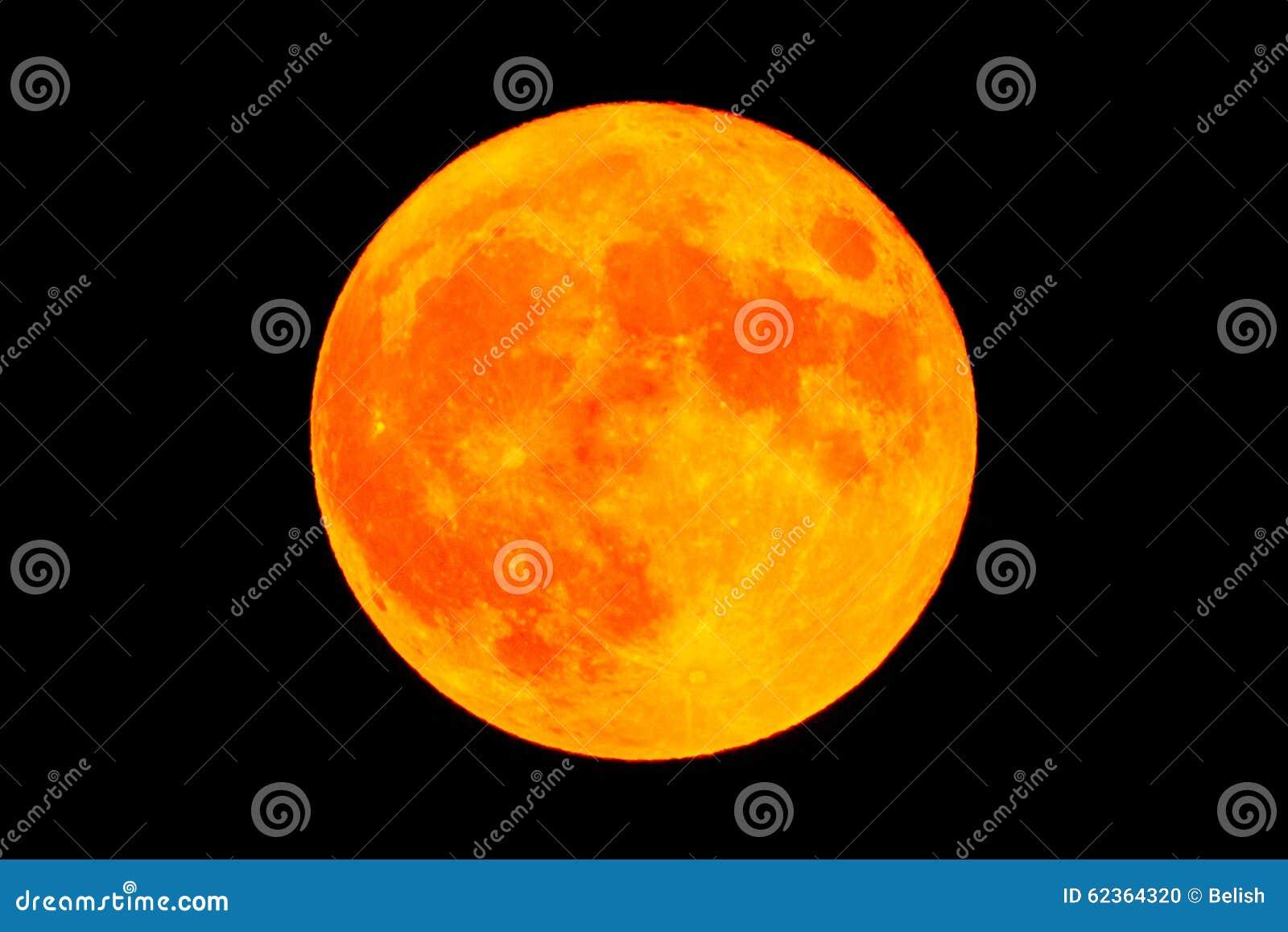 Röd blodmånefullmåne