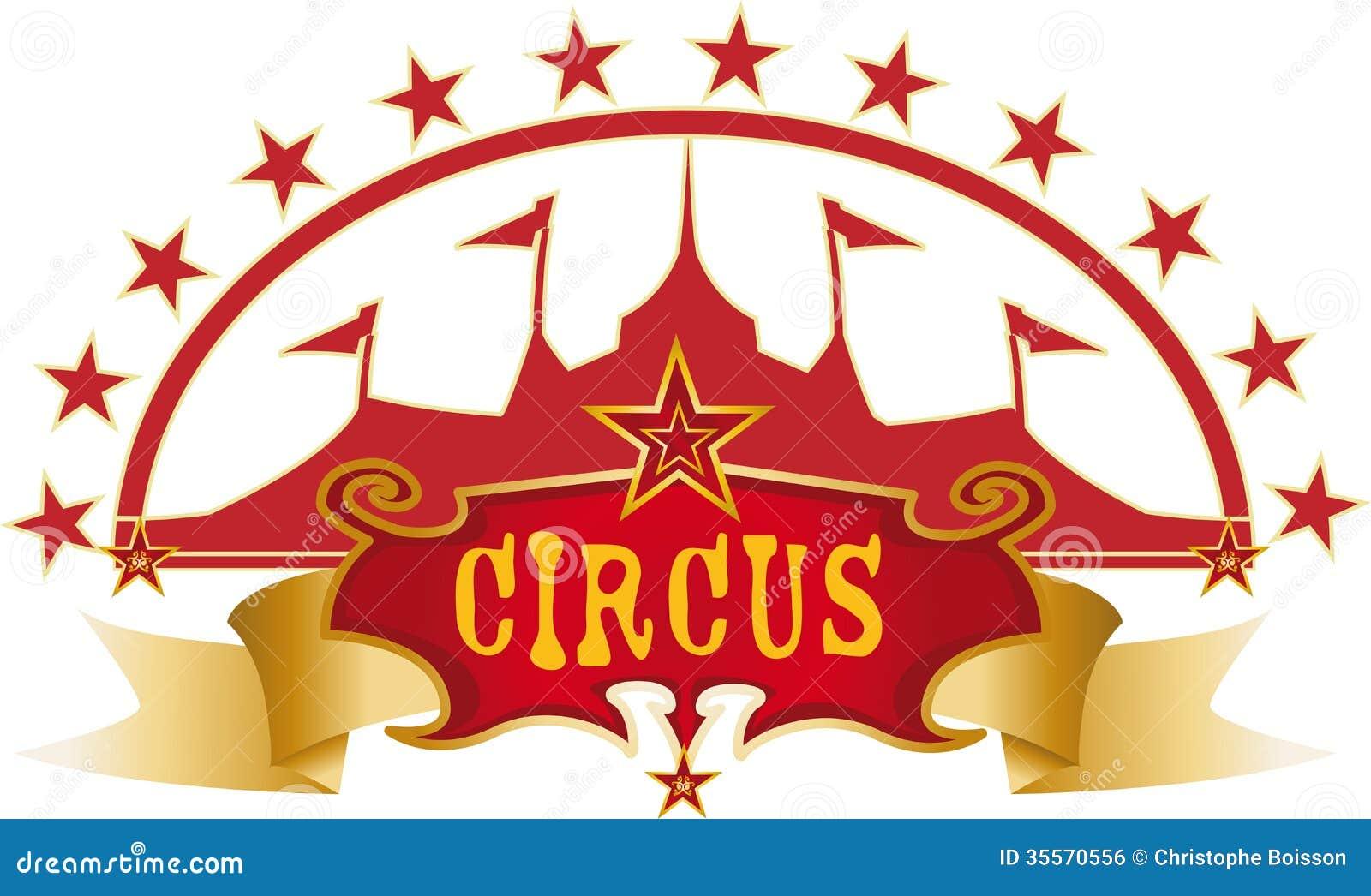 Röd design för cirkus