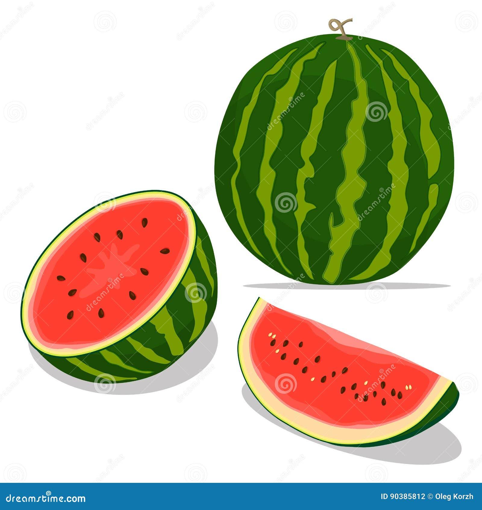 Röd fruktvattenmelon