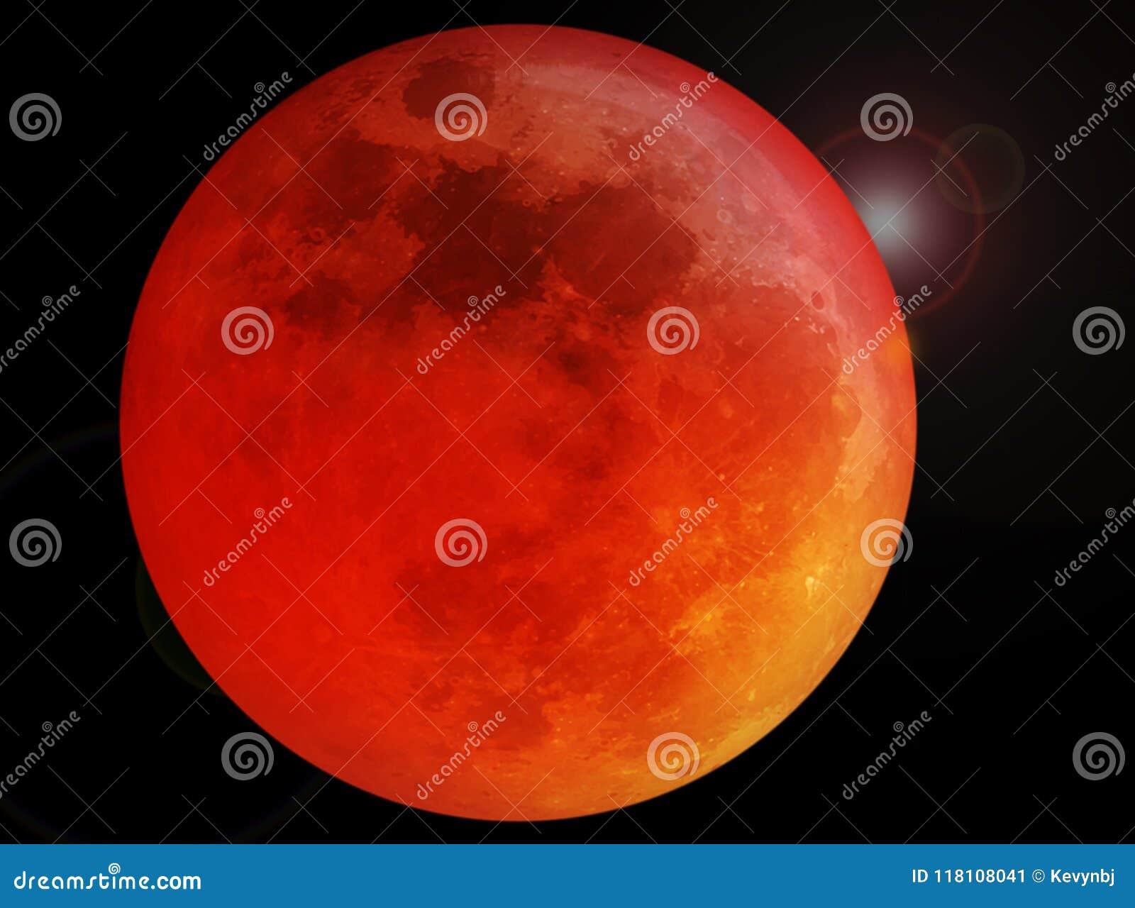 Röd fullmåne för blod