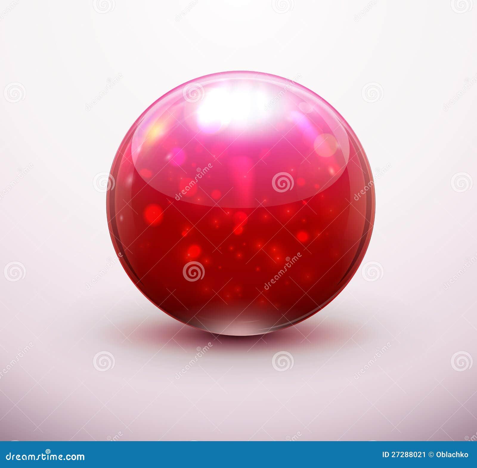 Röd glass marmor