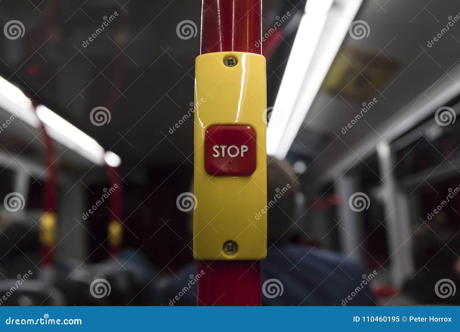 Röd hållplatsknapp