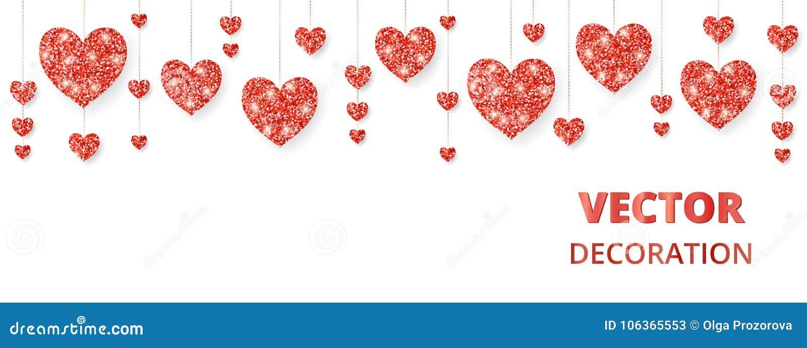 Röd hjärtaram, gräns Vektorn blänker isolerat på vit För garnering av valentin- och moderdagkort som gifta sig